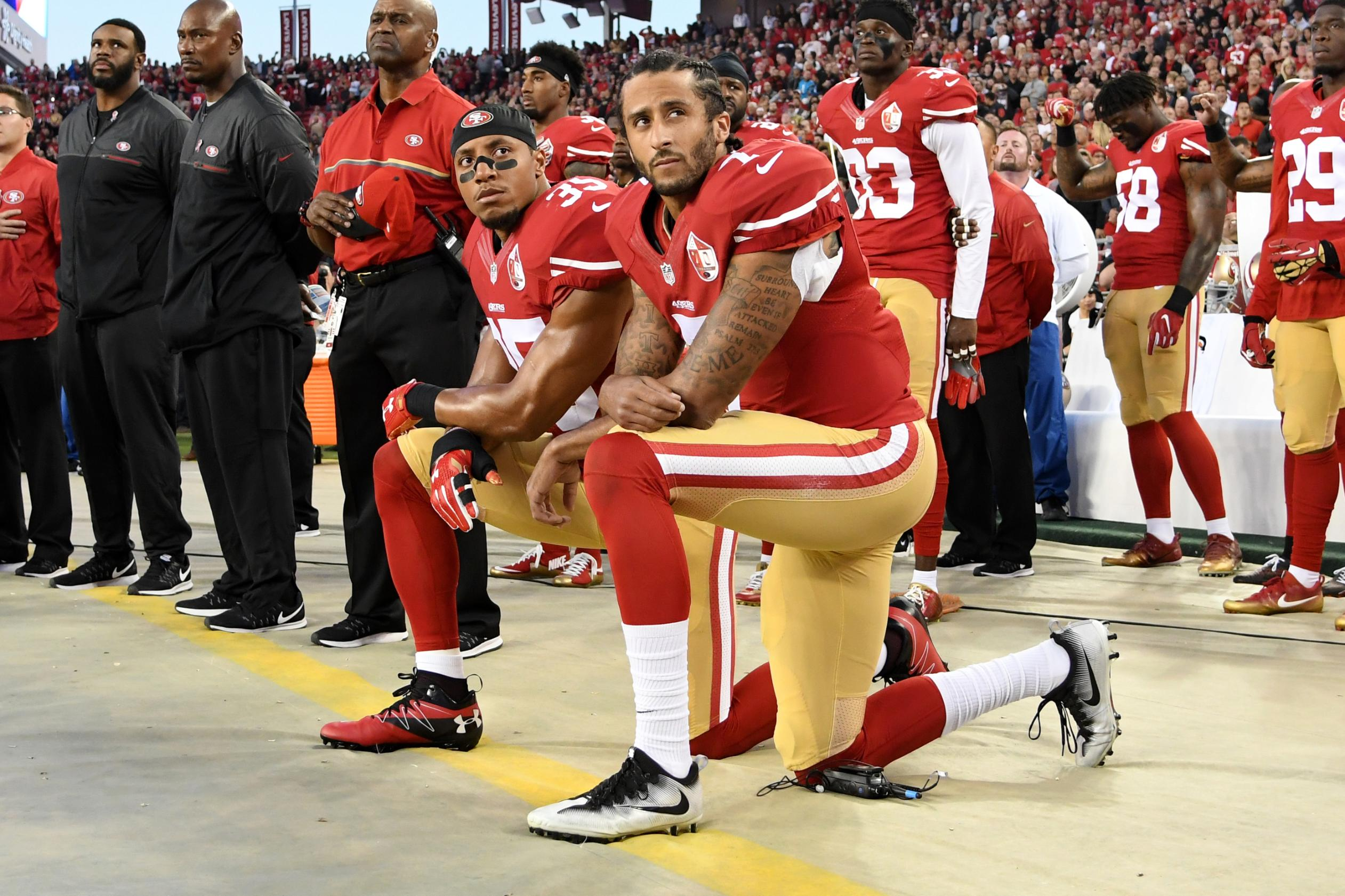 'The cries for peace will rain down' —  Colin Kaepernick among sporting figures to pay tribute to George Floyd