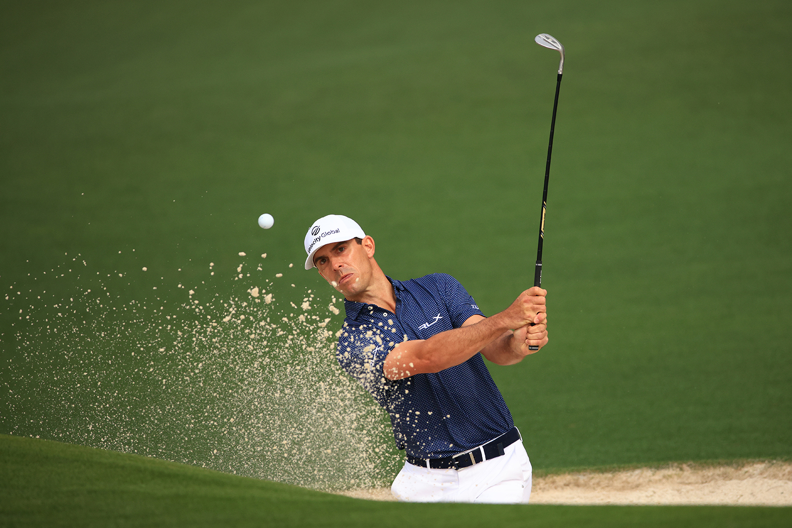 A day after playing a shot from the water with socks and shoes removed, Billy Horschel is back at it again