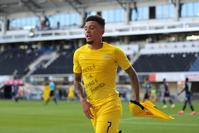 Jadon Sancho joins 'Justice for George Floyd' protest in scoring hat-trick for Dortmund