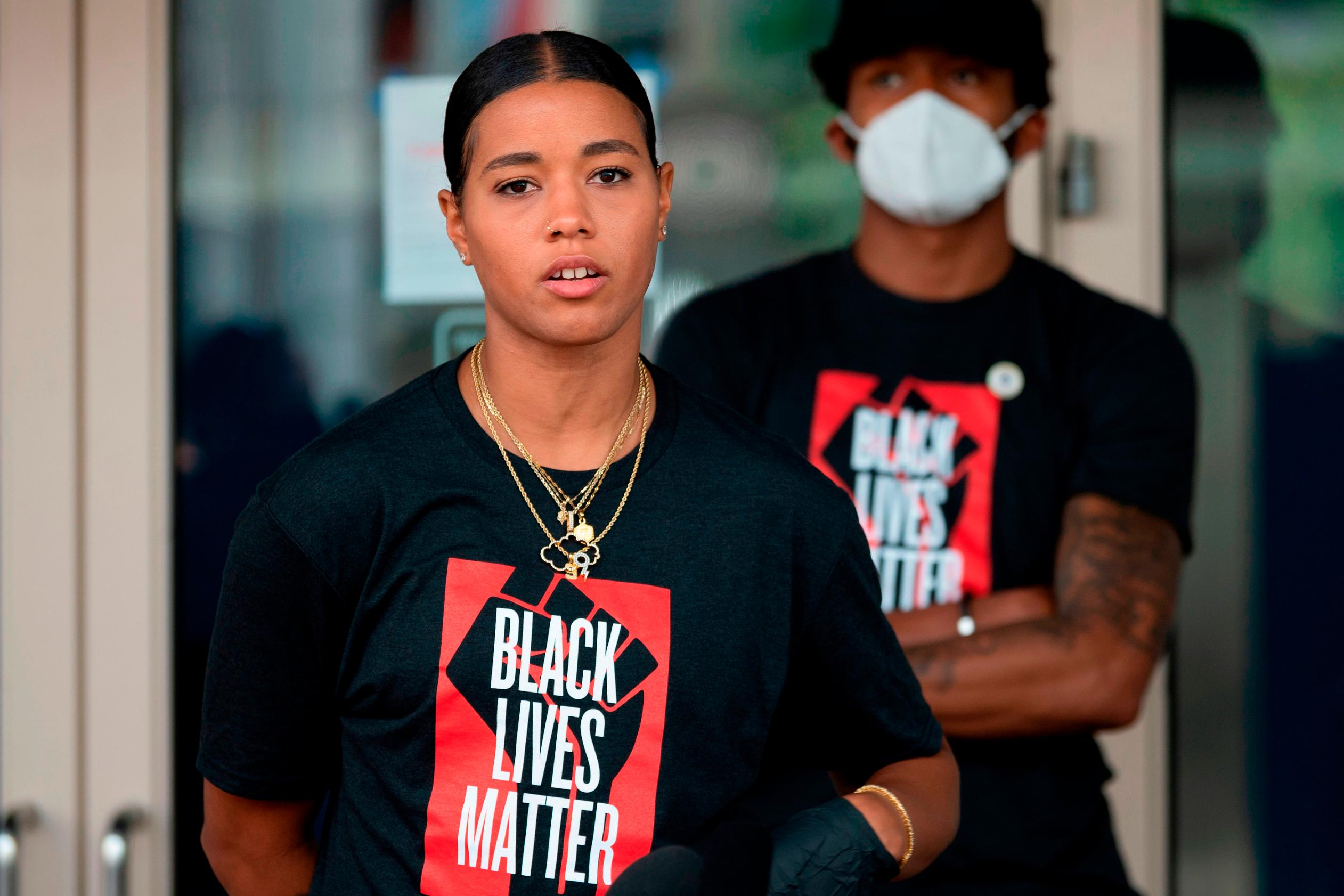 WNBA star Natasha Cloud says wearing Black Lives Matter T-shirts is 'not enough'