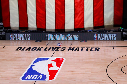 Image for NBA, players say games will resume on Saturday and arenas can be used for voting