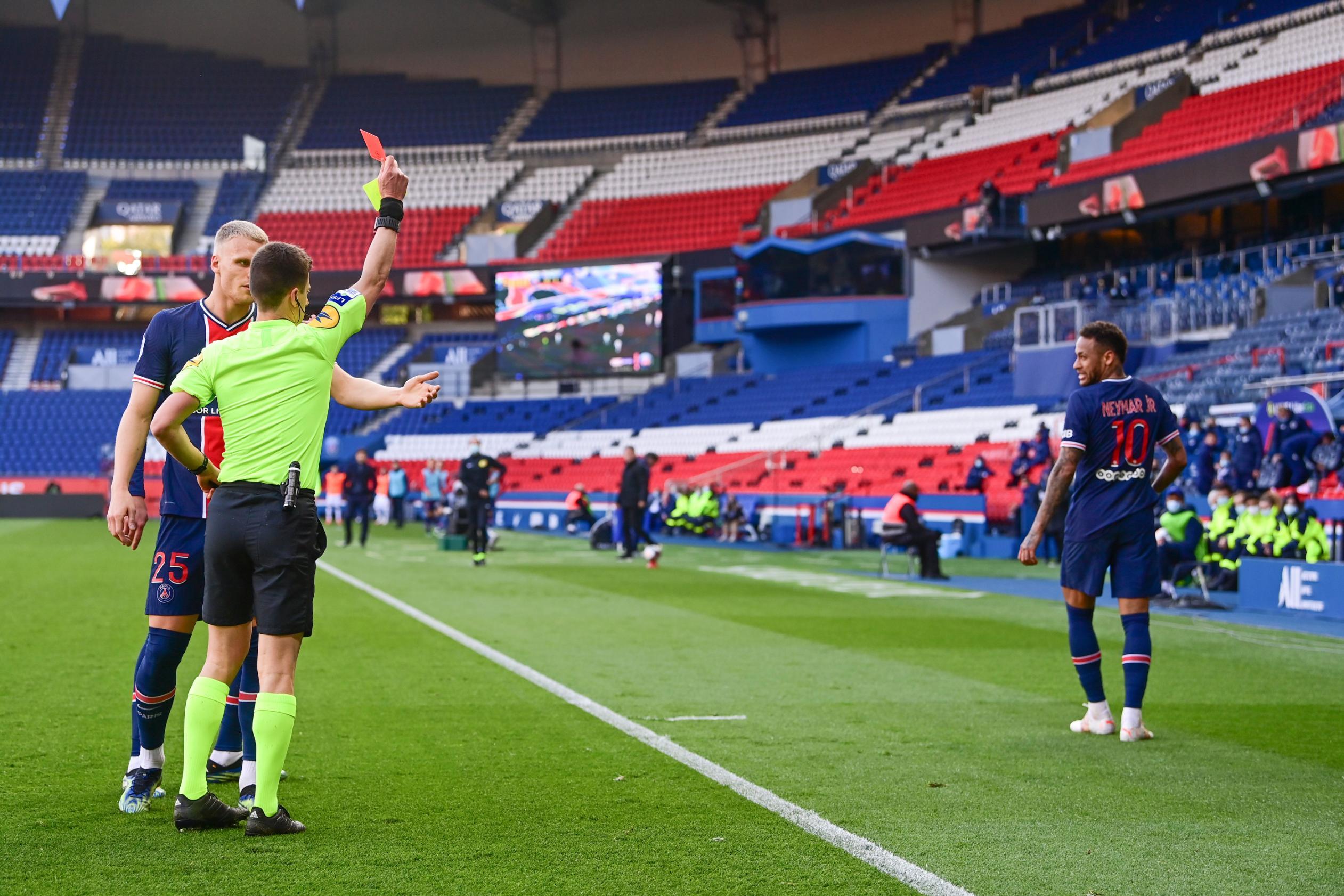 Neymar sees red as Lille stuns Paris Saint-Germain in Ligue 1 title showdown