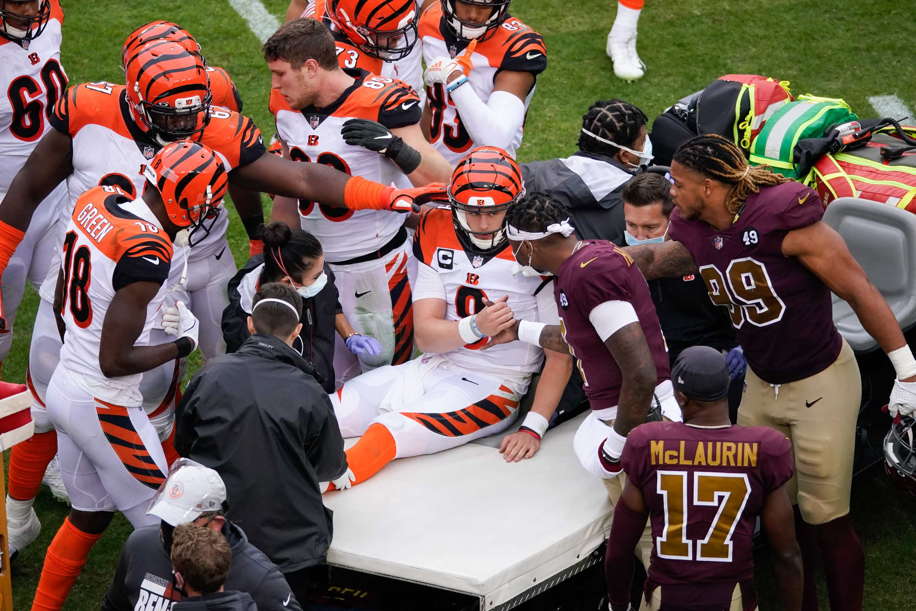 'See ya next year,' tweets Cincinnati Bengals' Joe Burrow after suffering knee injury