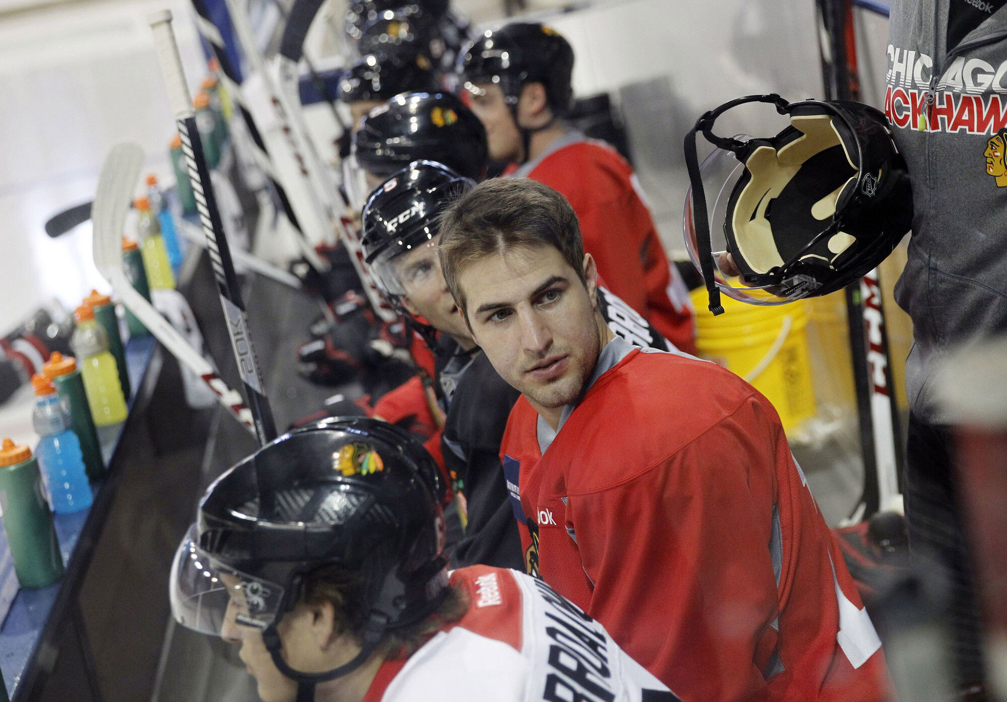 Hockey player who made sexual abuse allegation against former Blackhawks video coach speaks out