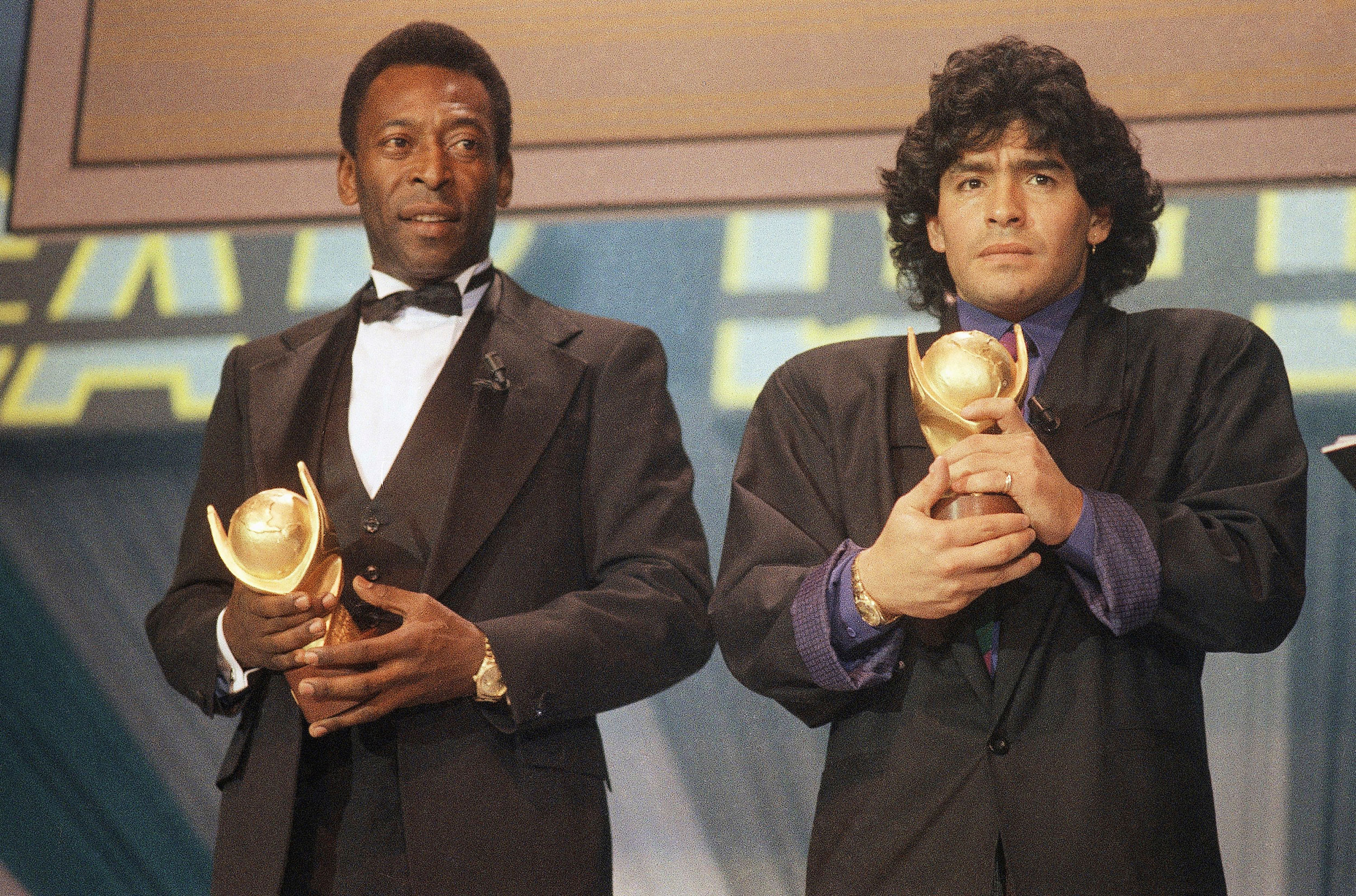 'We will play football together in heaven,' says Pele in tribute to Diego Maradona