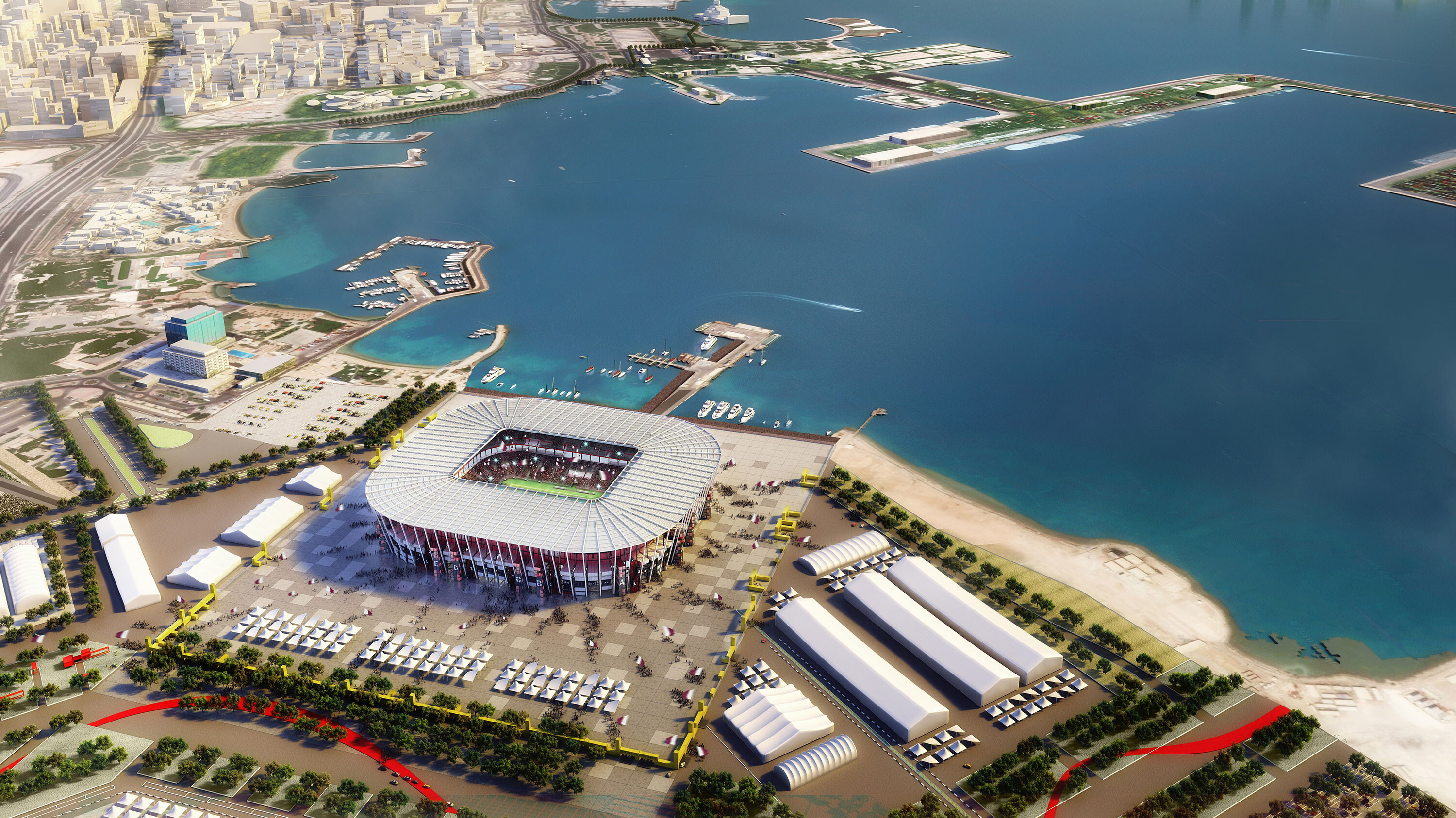 Qatar's Ras Abu Aboud stadium is the first built in World Cup history that was meant to be torn down
