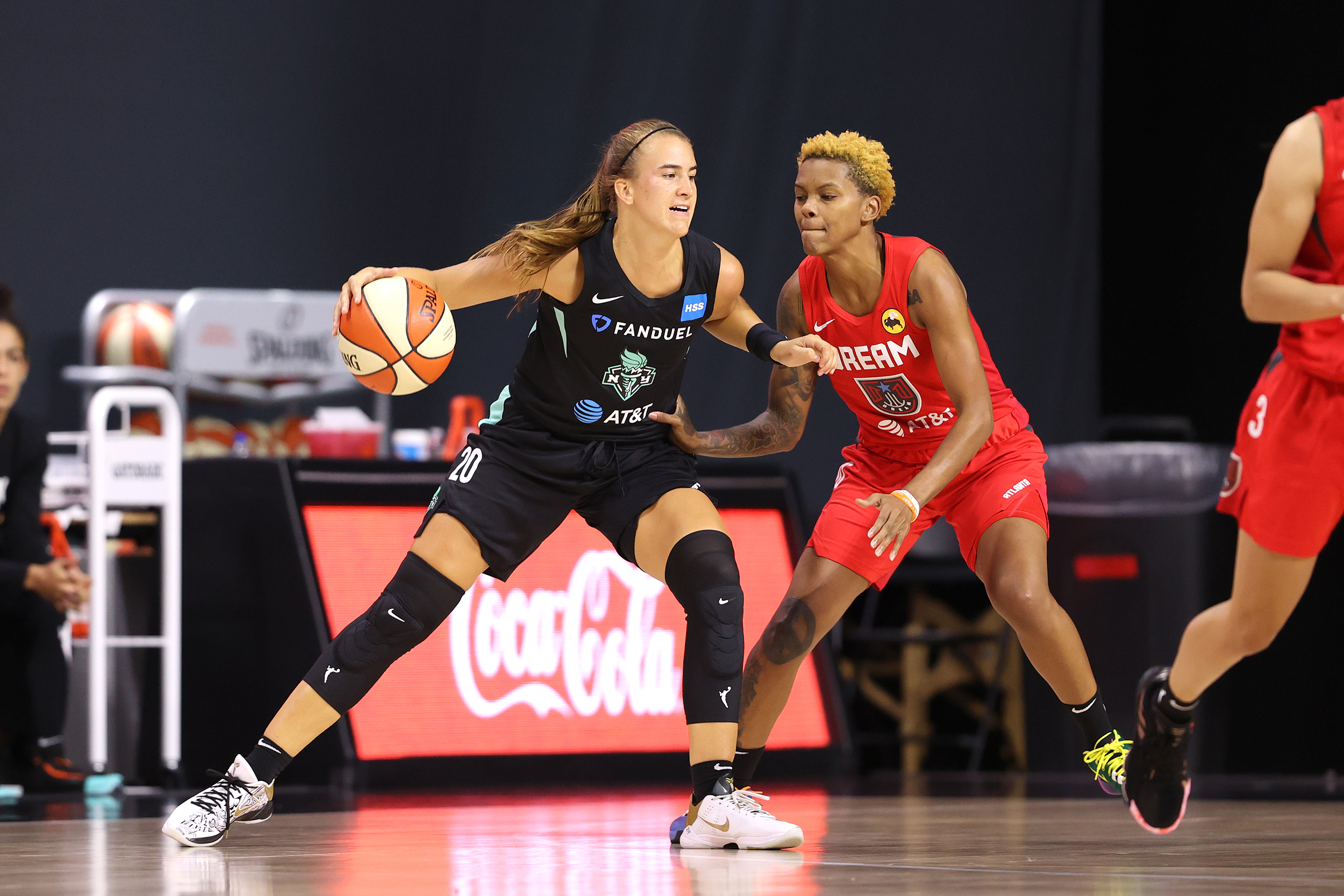 New York Liberty's Sabrina Ionescu leaves game after ankle injury
