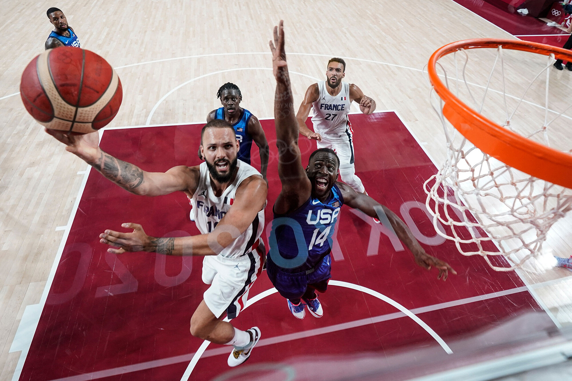 US men's basketball team defeated by France for first Olympic loss since 2004