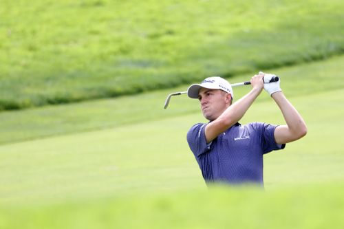 Image for Justin Thomas leads US Open with record first-round score at Winged Foot