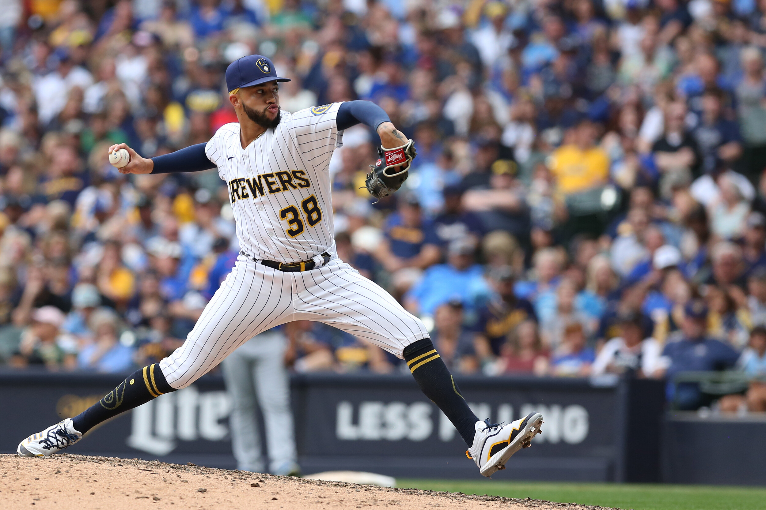 Brewers pitcher likely out for postseason after punching wall with throwing hand