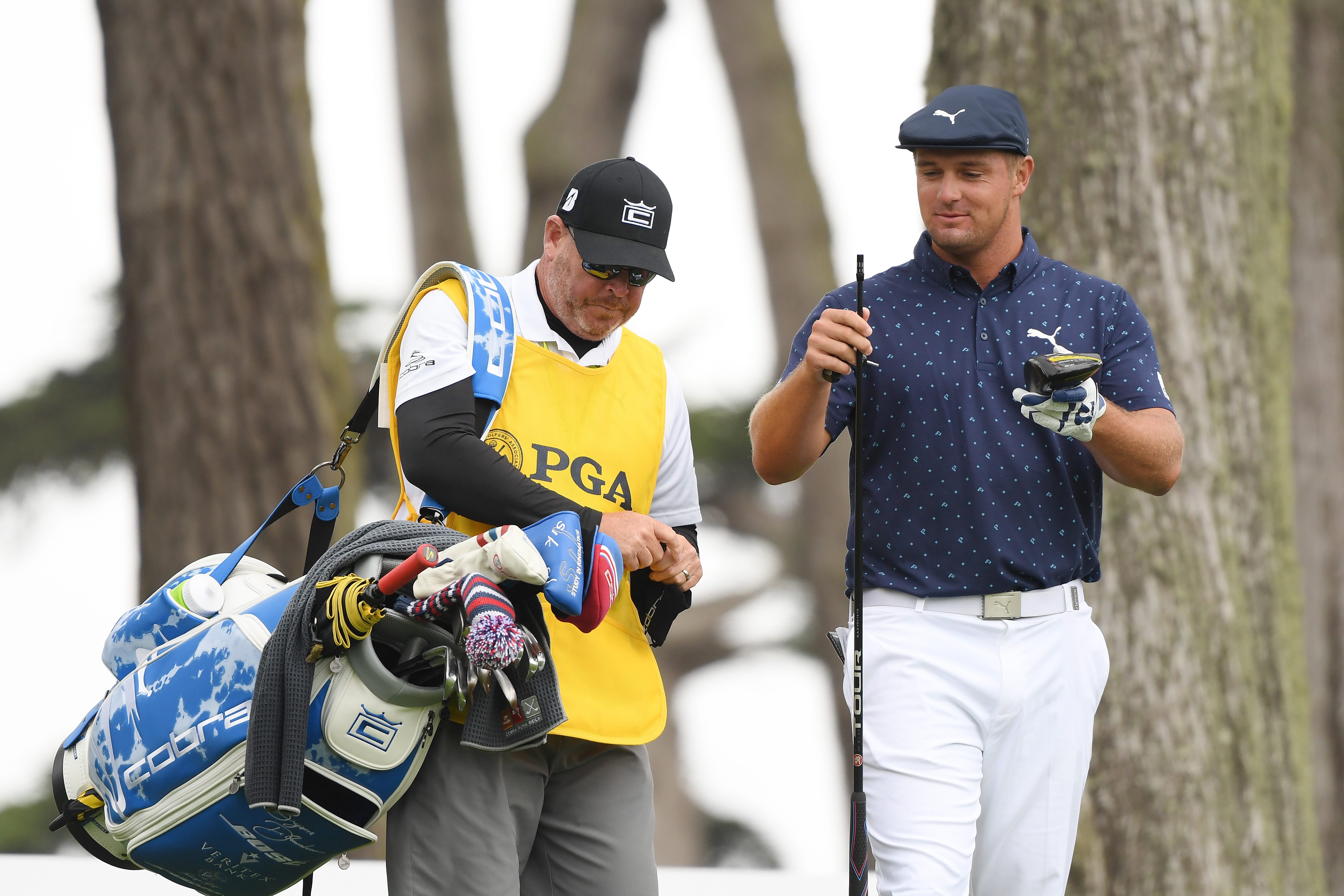 Bryson DeChambeau snaps driver during PGA Championship opening round