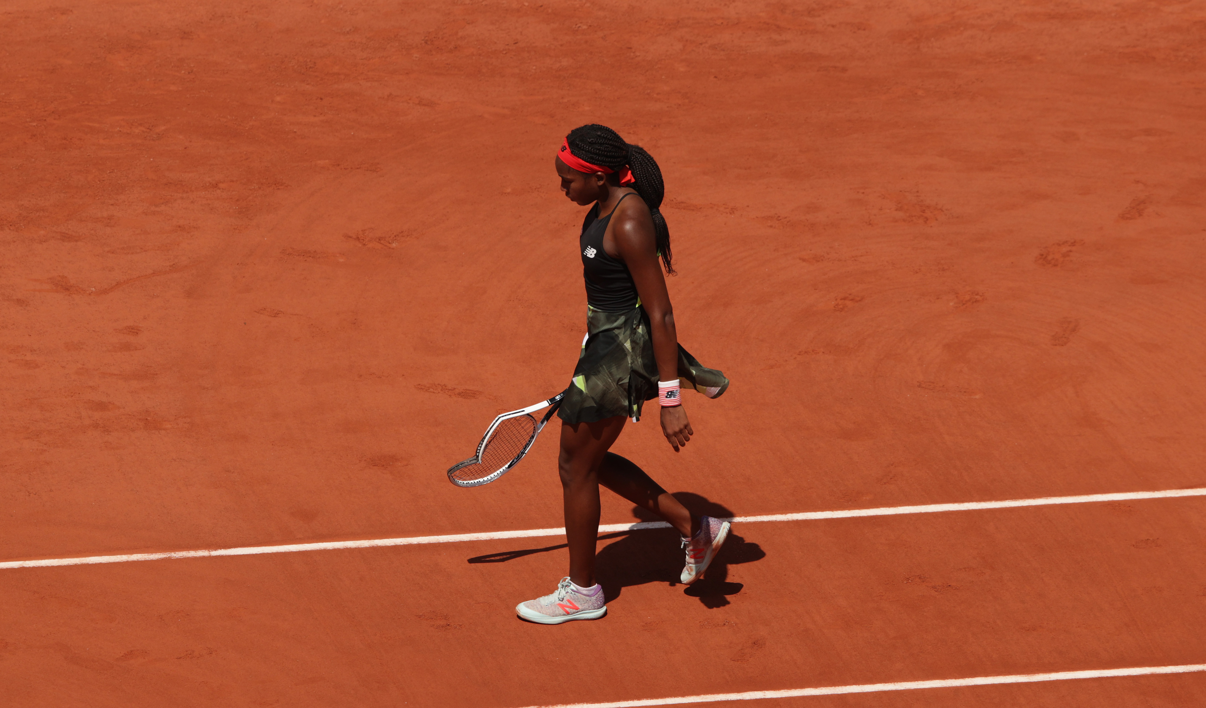 Coco Gauff smashes racquet as run at French Open comes to an end against Barbora Krejcikova