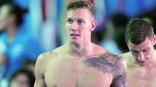 Image for US swimmer Caeleb Dressel breaks two world records in one hour