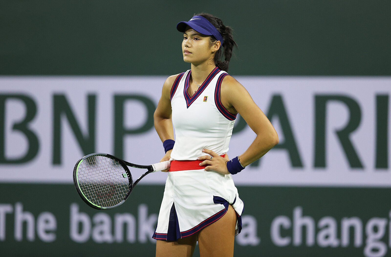 Emma Raducanu says she needs to cut herself 'some slack' after defeat by Aliaksandra Sasnovich at Indian Wells