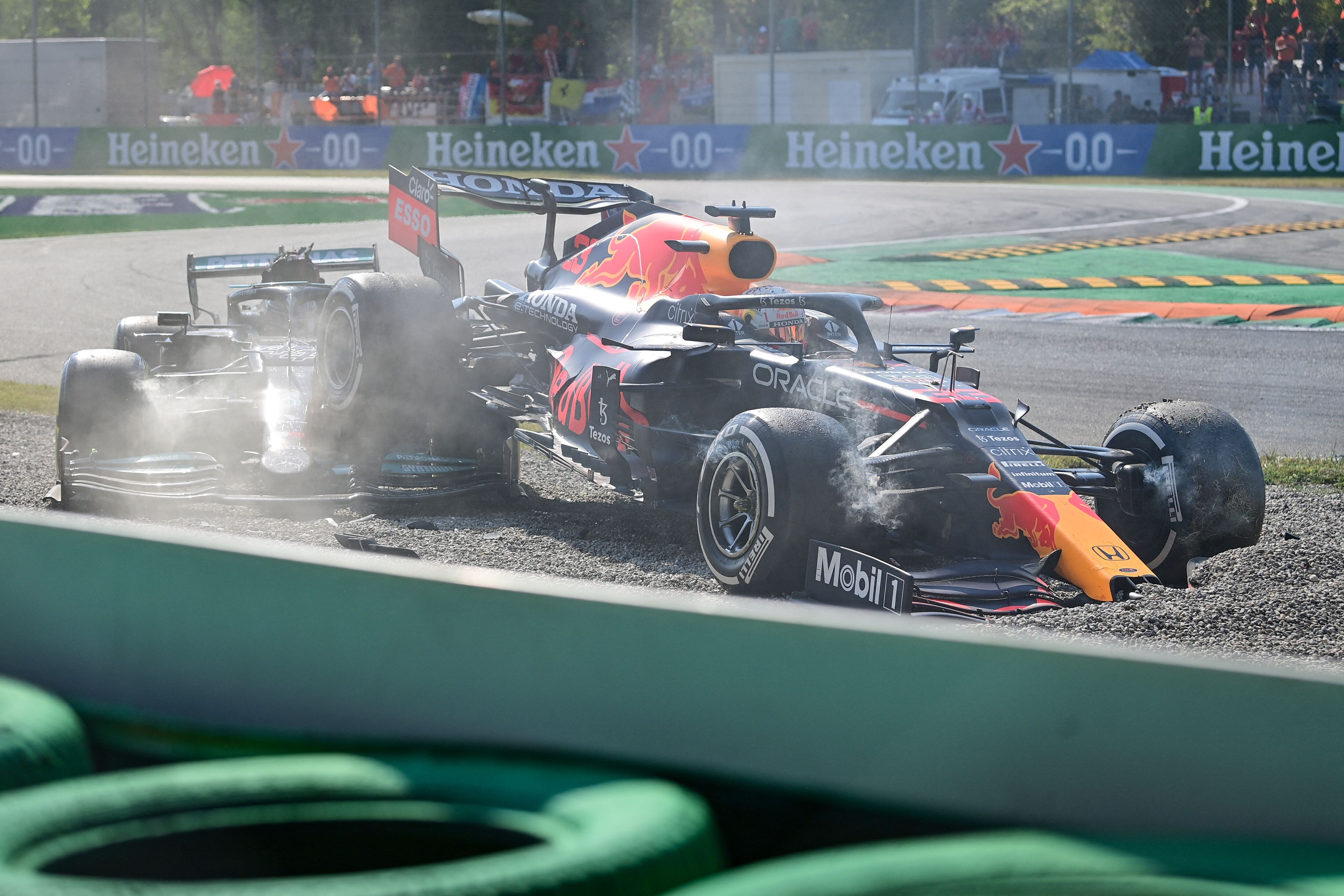 Lewis Hamilton 'fortunate to be alive' after drama-filled Italian Grand Prix