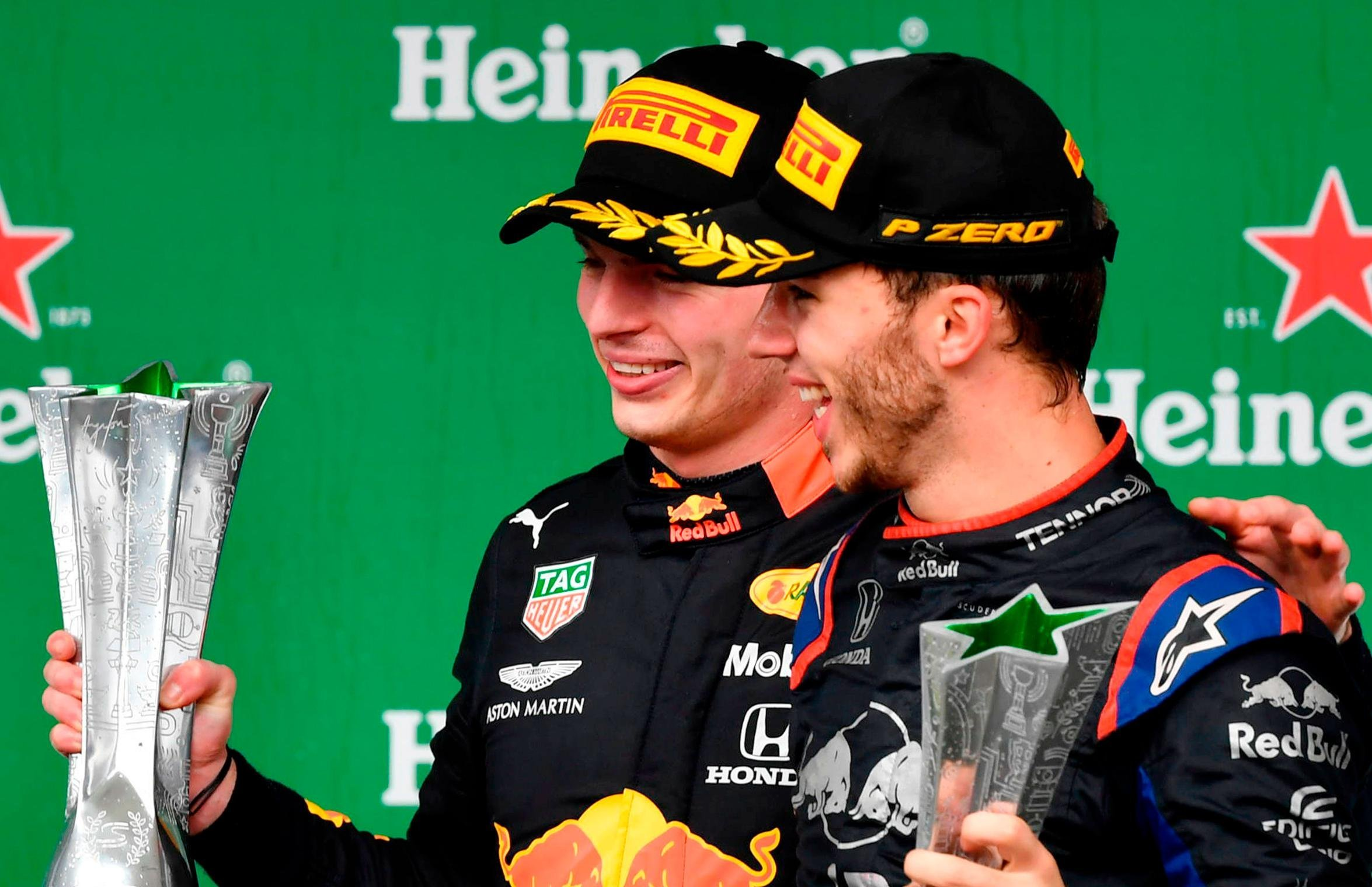 Verstappen wins Brazilian GP as Ferraris collide AND Gasly and Sainz claim first F1 podiums