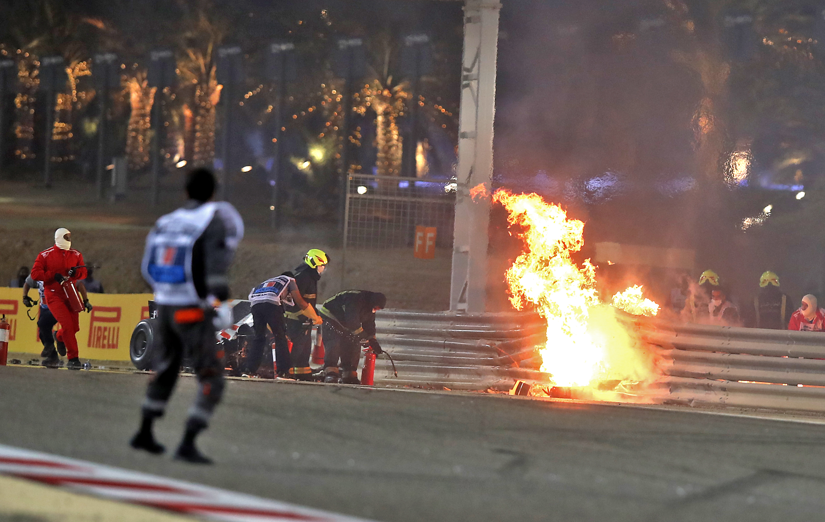 Romain Grosjean hails halo as the 'greatest thing' in F1 after horrific crash at Bahrain GP
