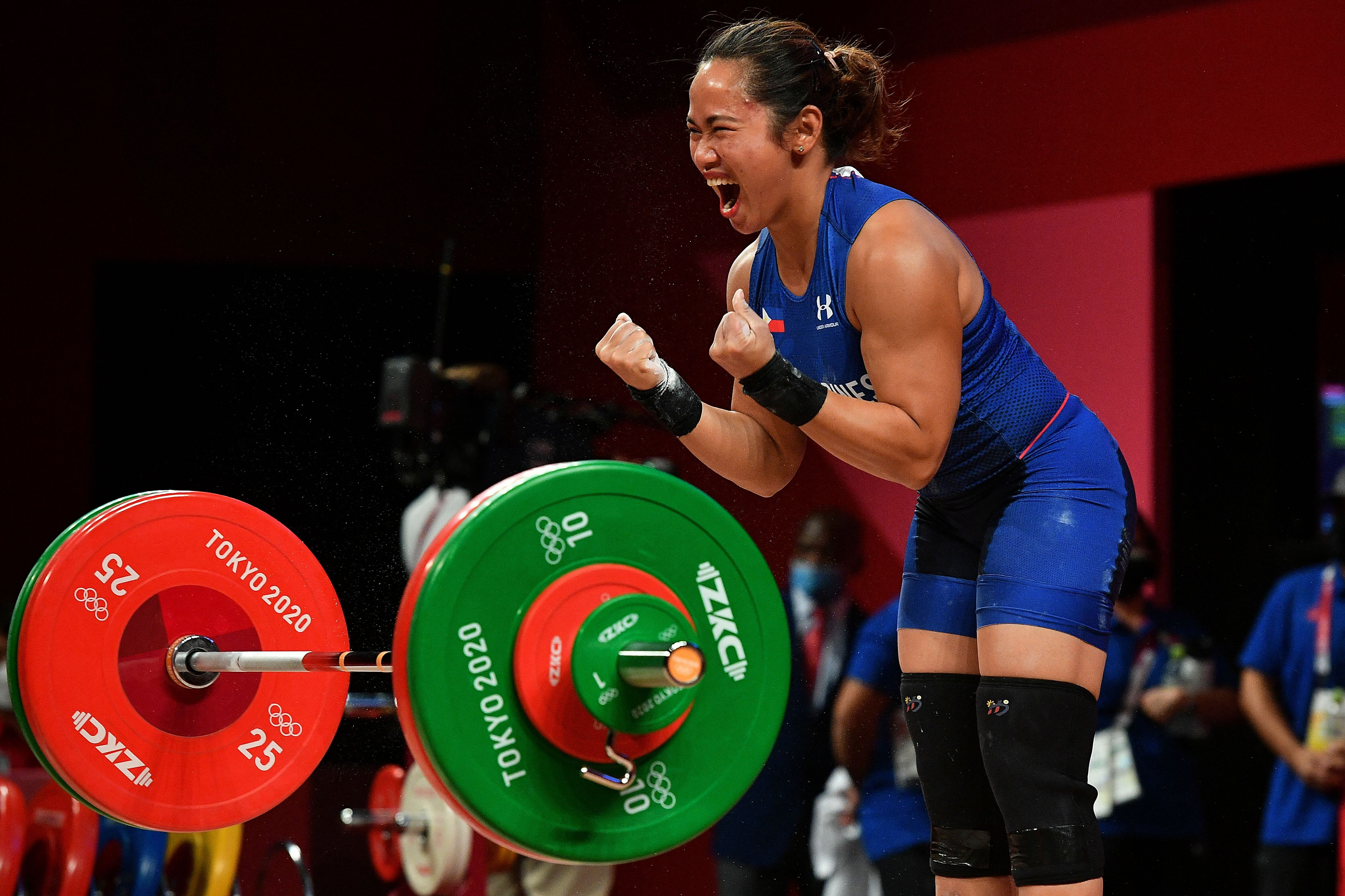Hidilyn Diaz wins Philippines' first Olympic gold medal with weightlifting