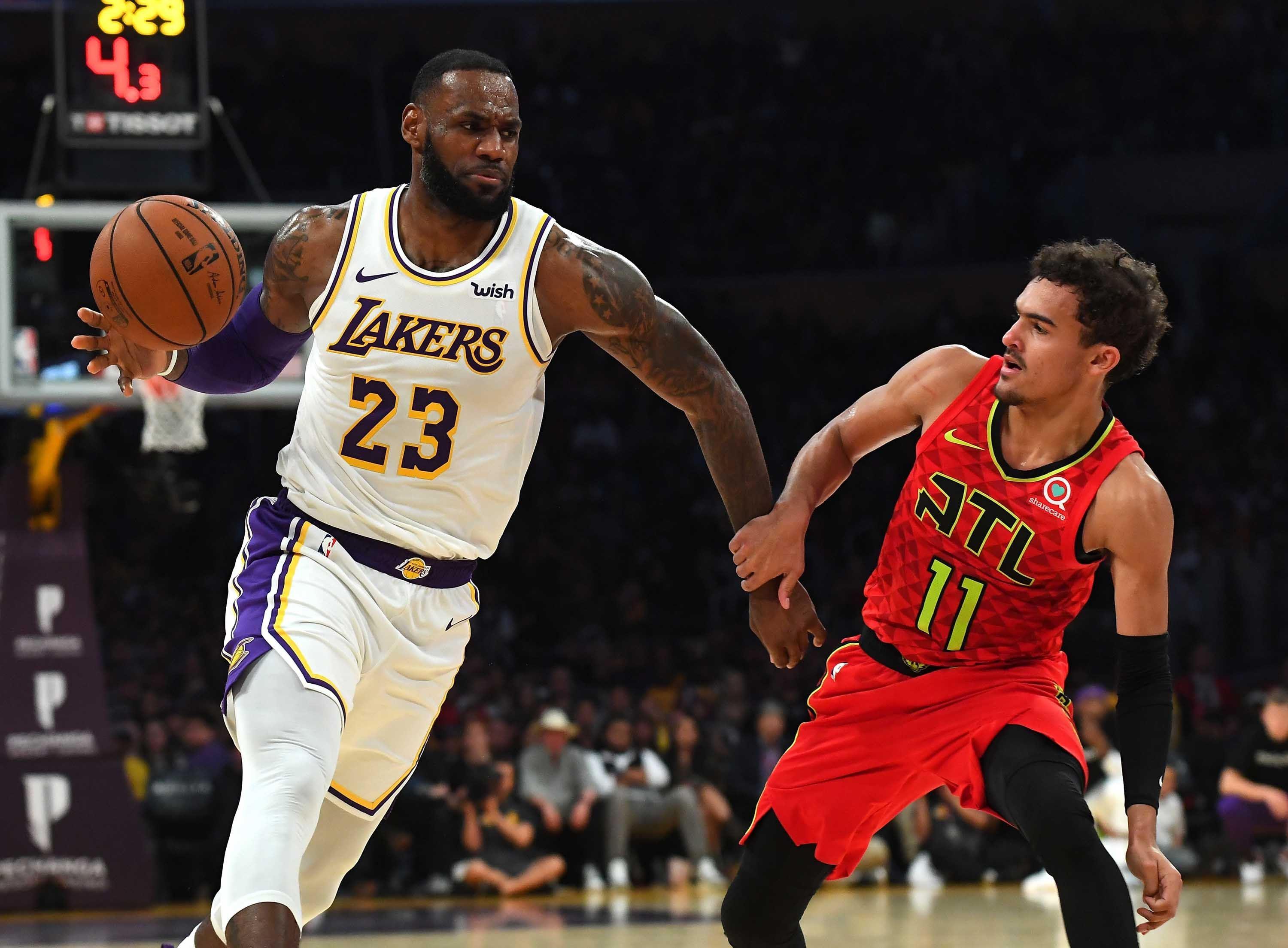 LeBron James and Trae Young set the NBA alight
