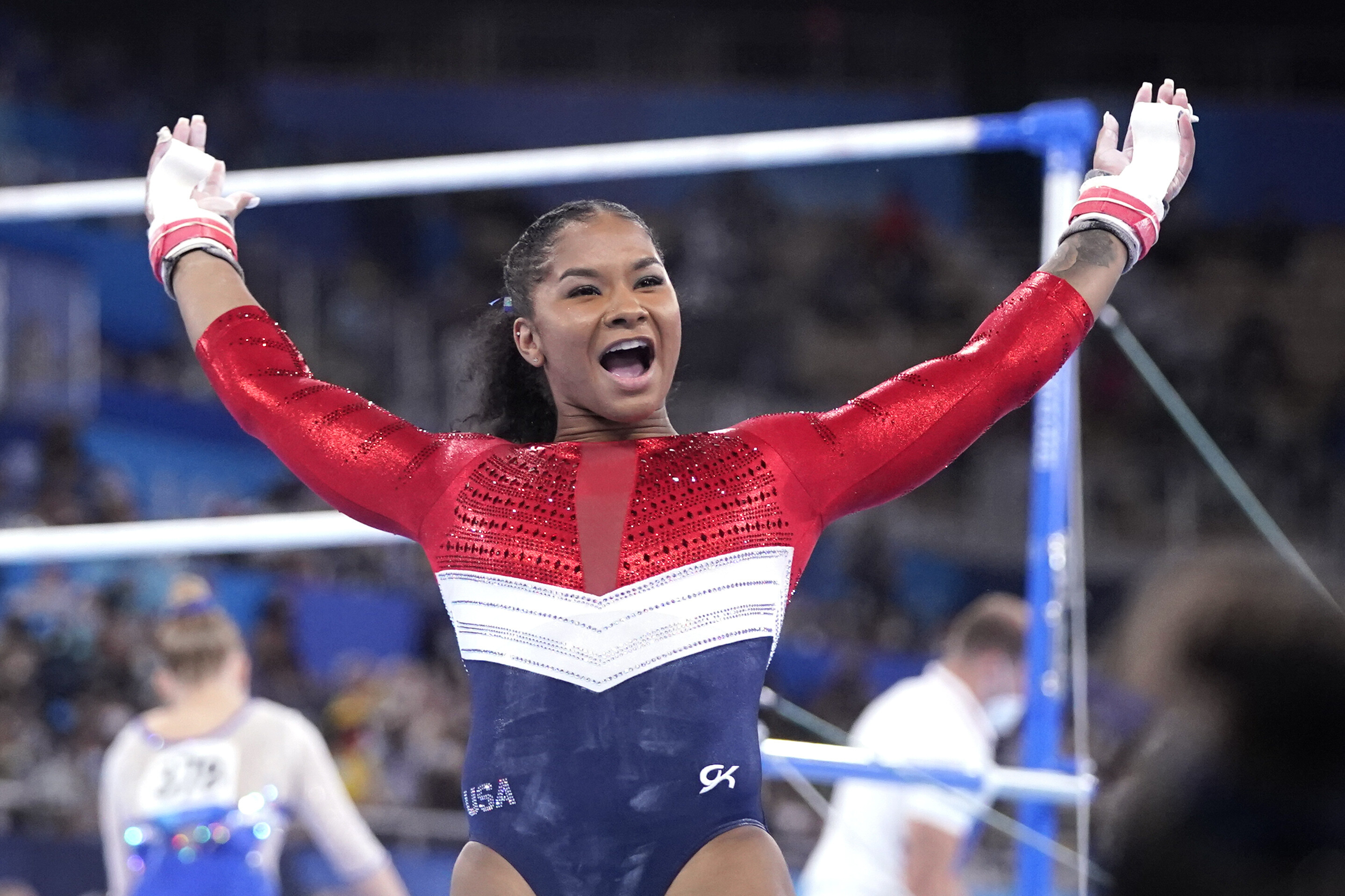 Jordan Chiles stepped in for Team USA after her friend and confidante Simone Biles withdrew