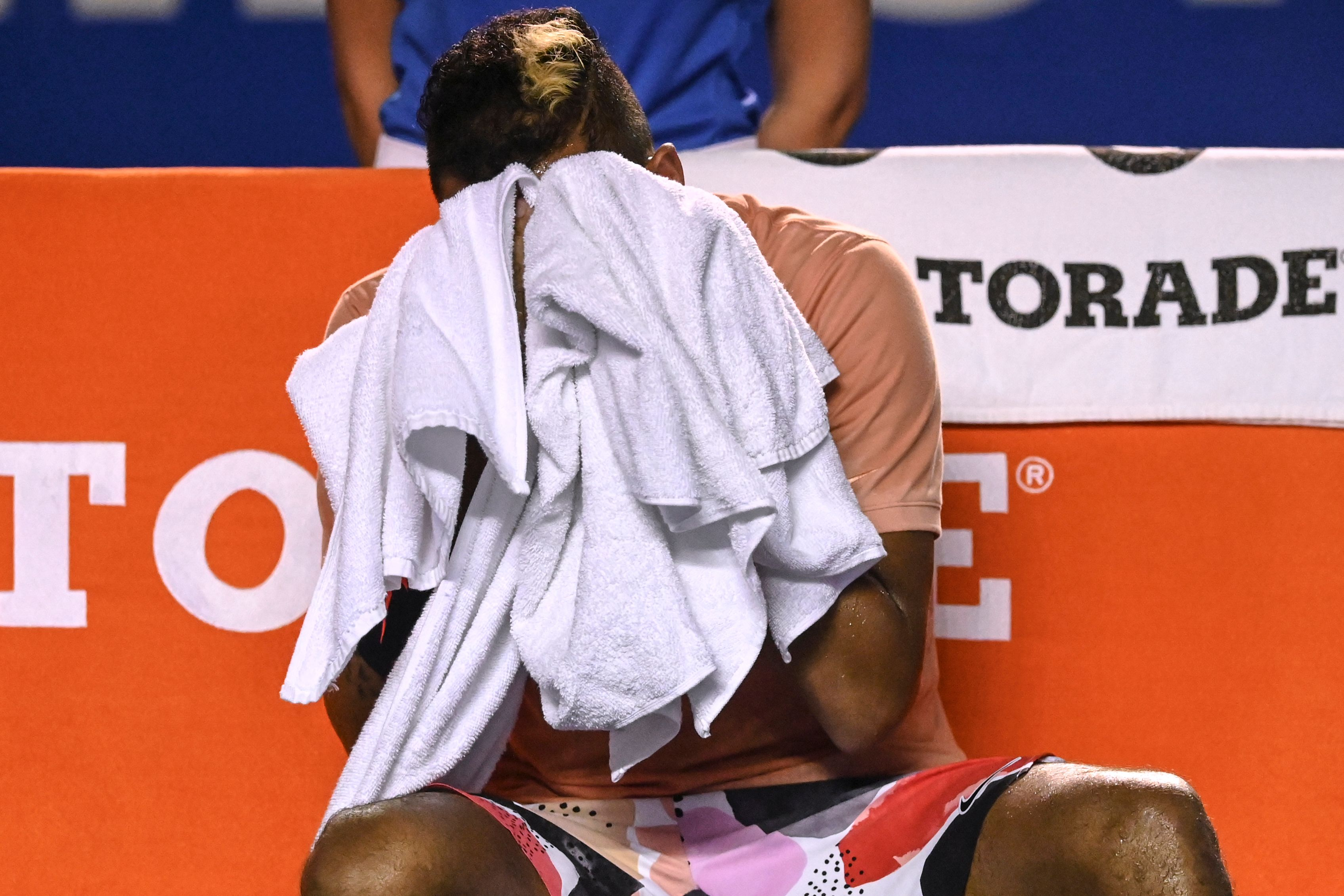 Tennis star Nick Kyrgios gives expletive-laden media conference after being booed off court
