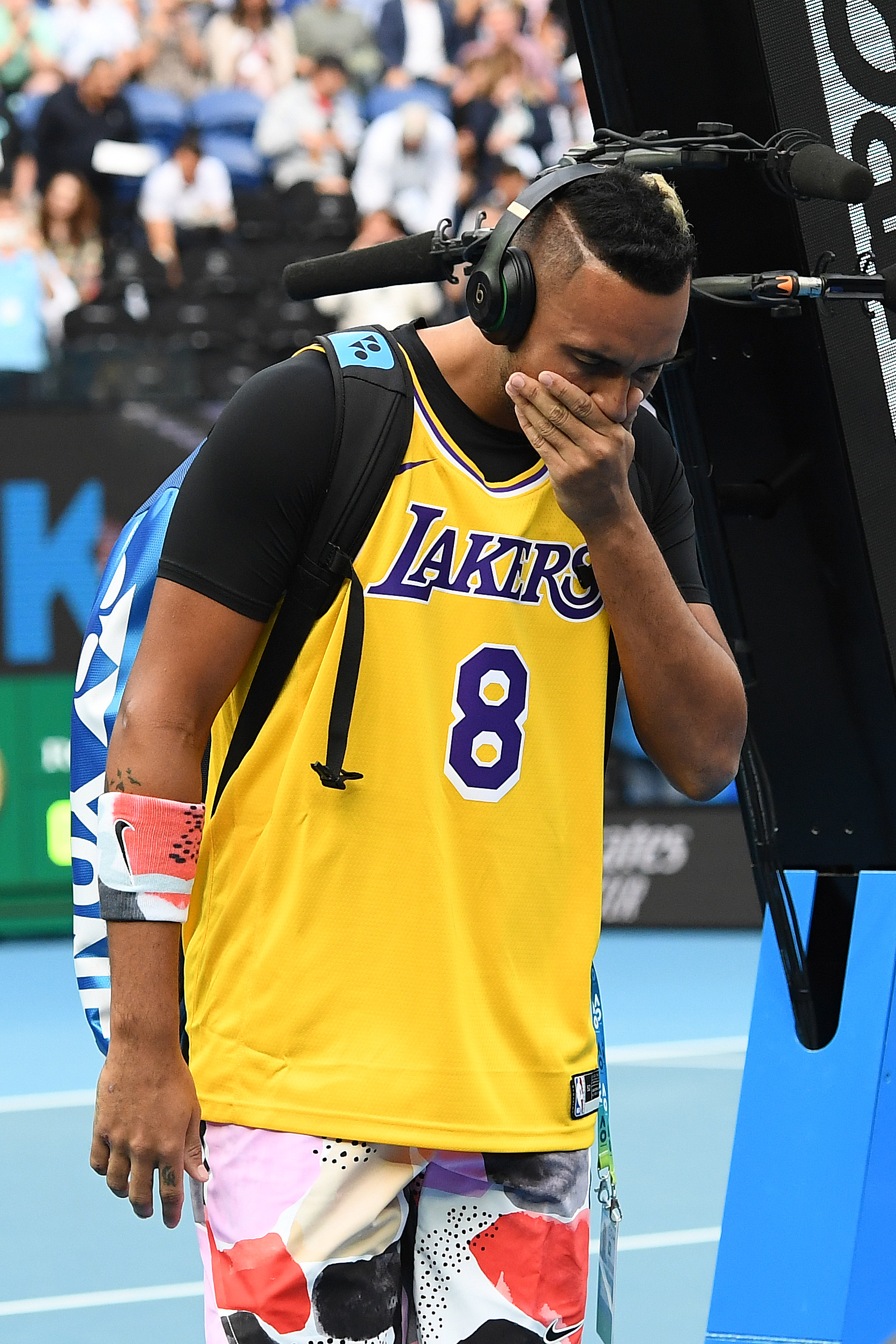 Rafael Nadal and Nick Kyrgios pay tribute to Kobe Bryant during Australian Open