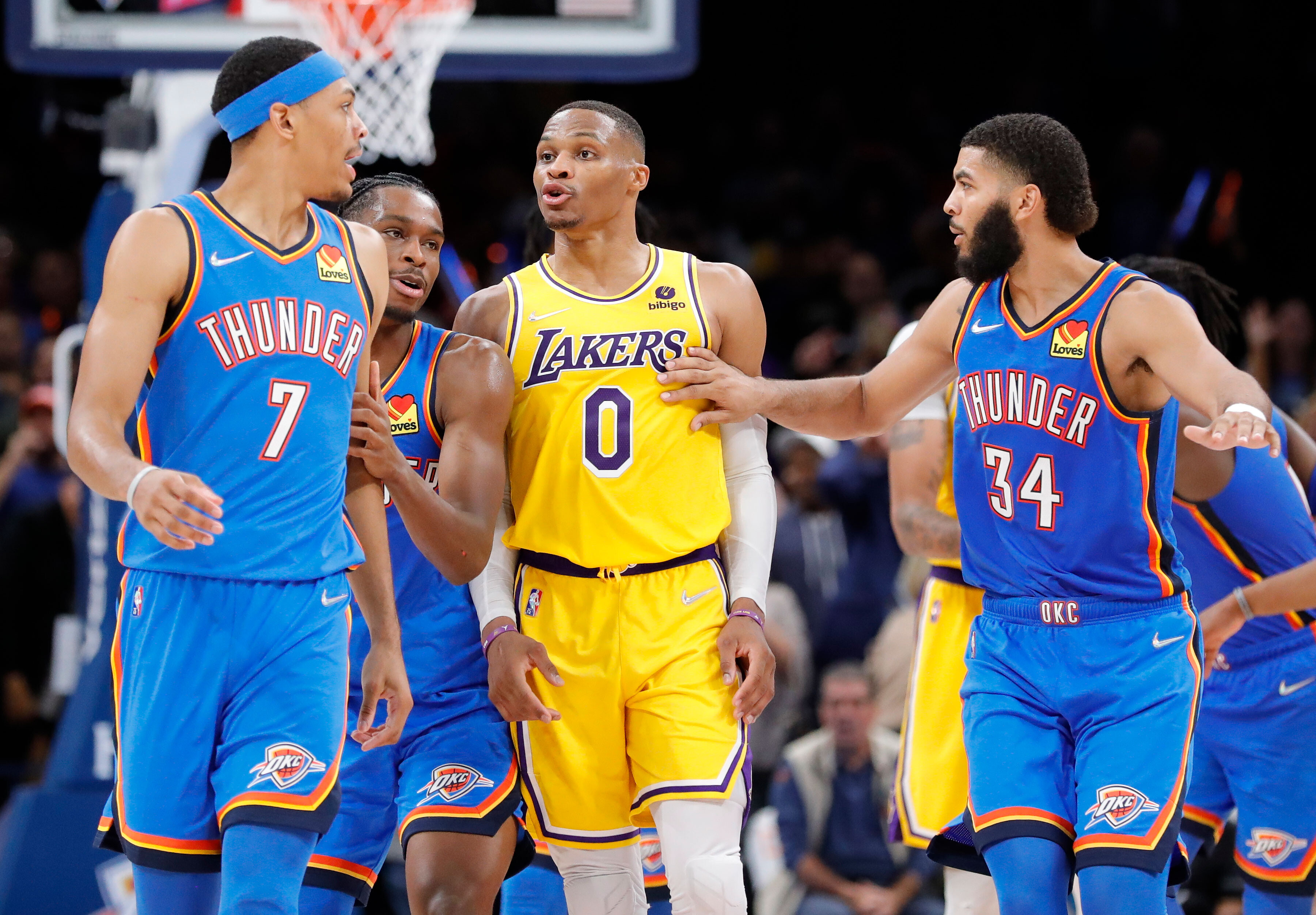 Los Angeles Lakers blow 26-point lead in defeat to the Oklahoma City Thunder