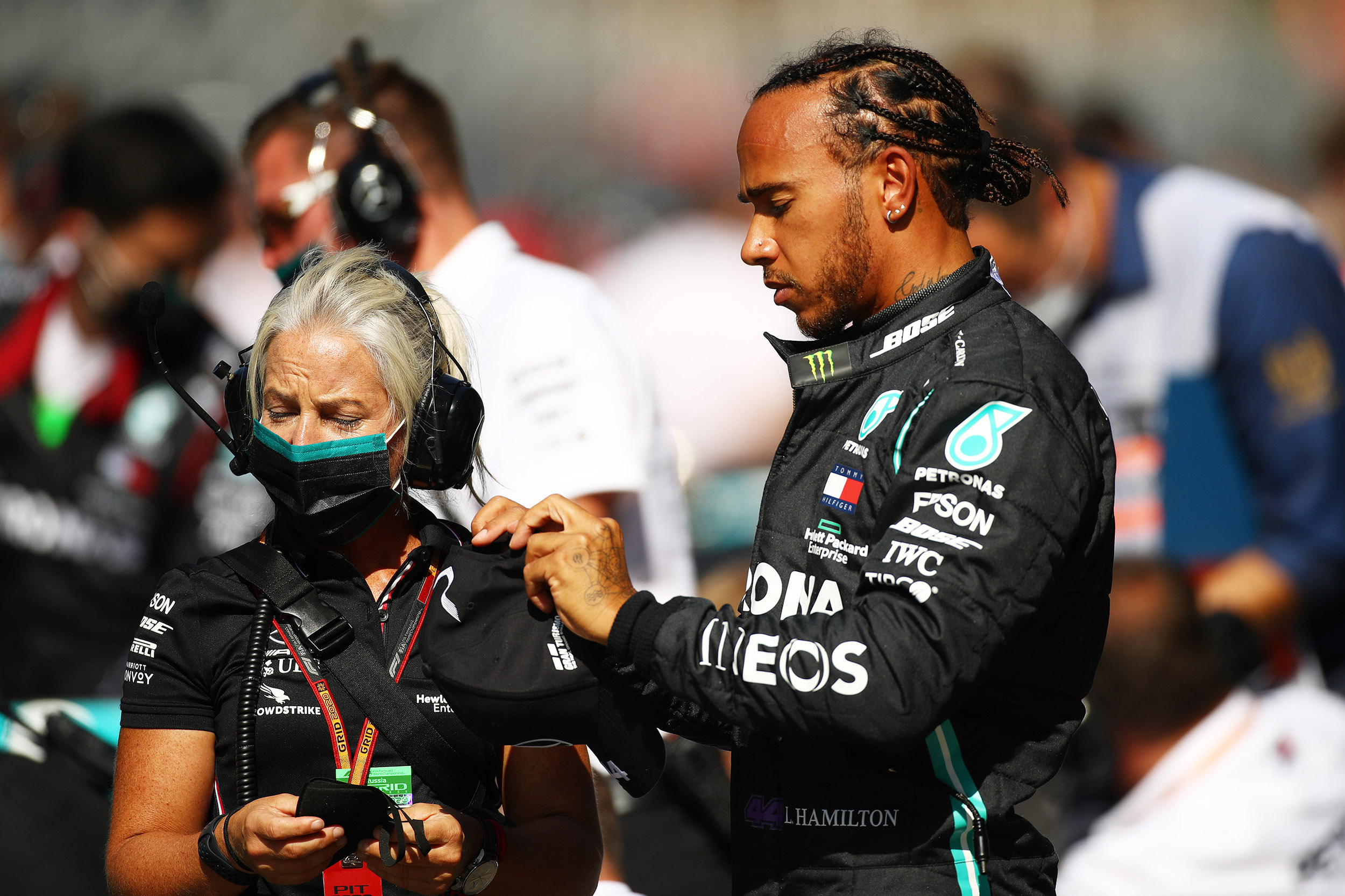 'They're trying to stop me,' says Lewis Hamilton after being handed a time penalty at the Russian GP