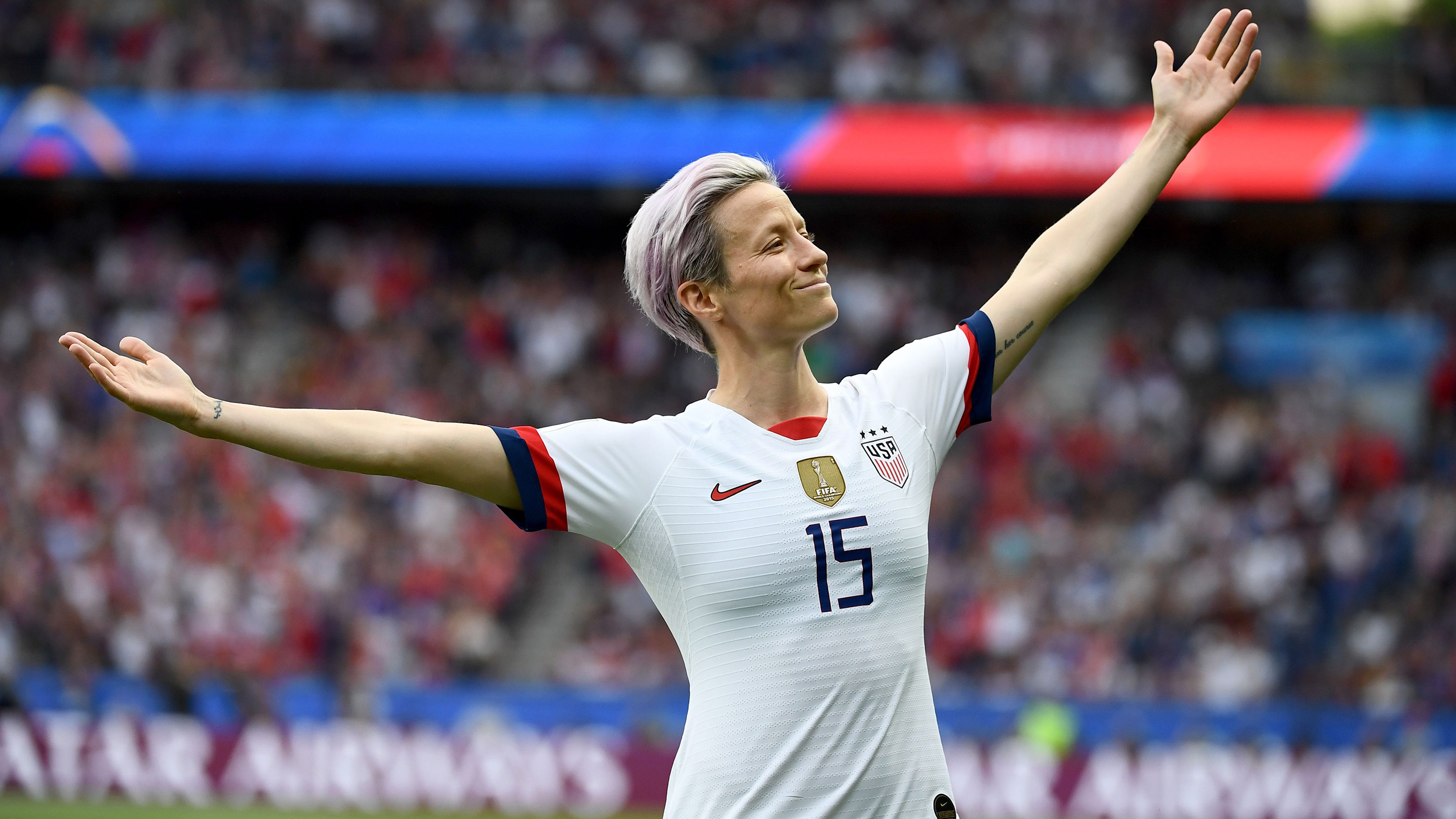 Megan Rapinoe says 'we all have a responsibility to make the world a better place'
