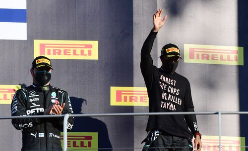 Image for Lewis Hamilton wins crash-hit Tuscan Grand Prix to extend world title lead