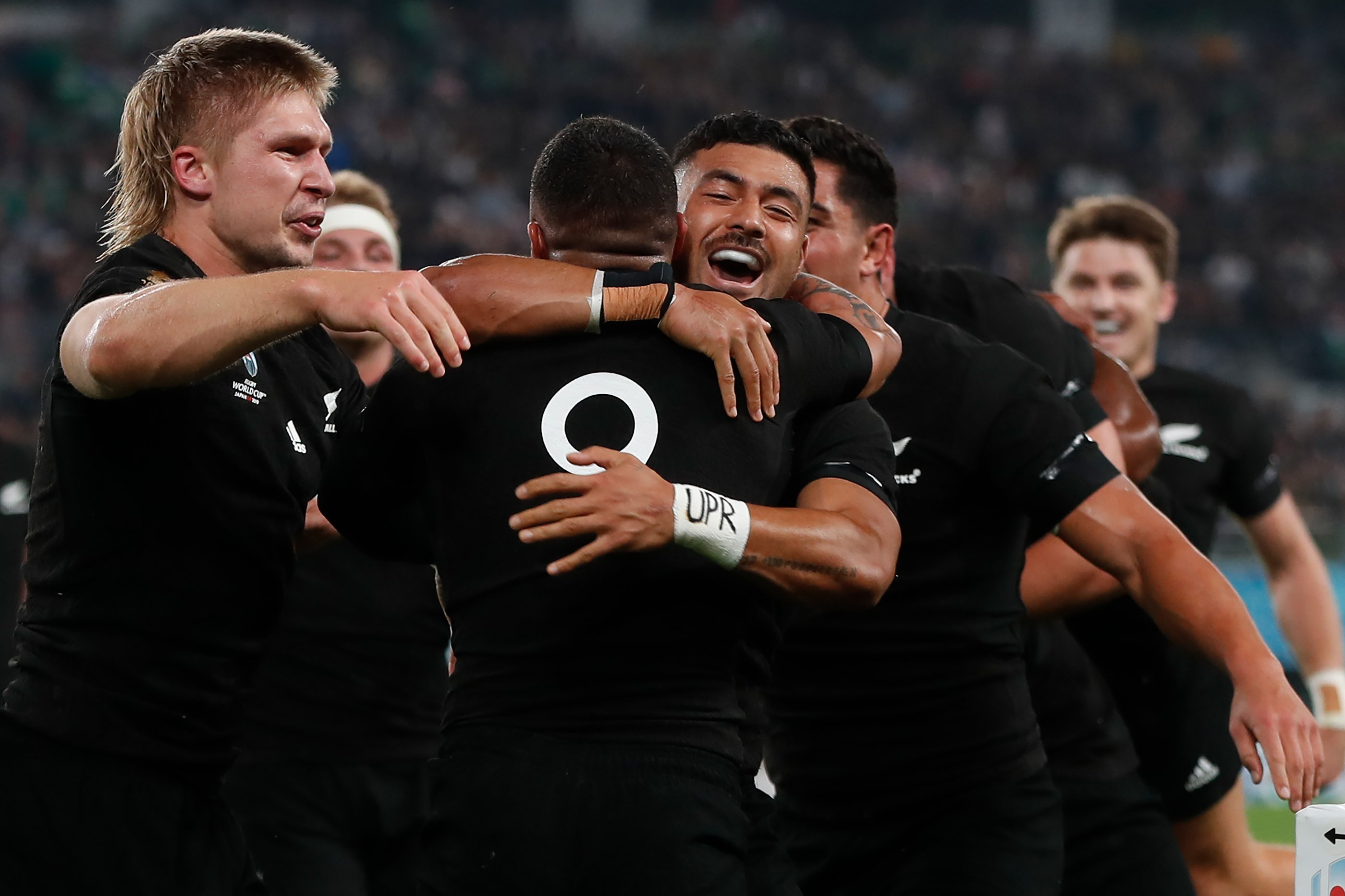 All Blacks reach Rugby World Cup semifinals with seven-try demolition of Ireland