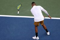 Nick Kyrgios smashes two rackets and curses at umpire in Cincinnati defeat