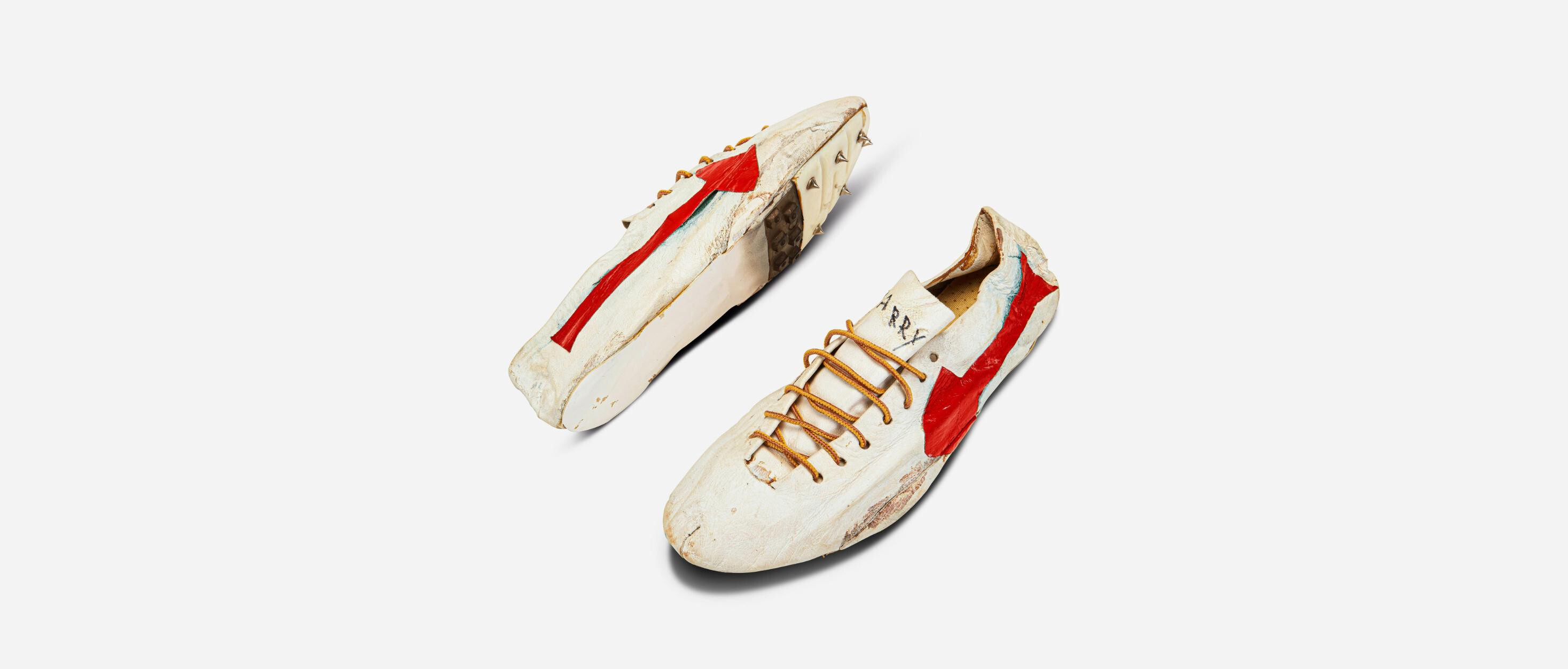Olympics memorabilia: Rare pair of track spikes handmade by Nike co-founder set to fetch up to $1.2 million at auction