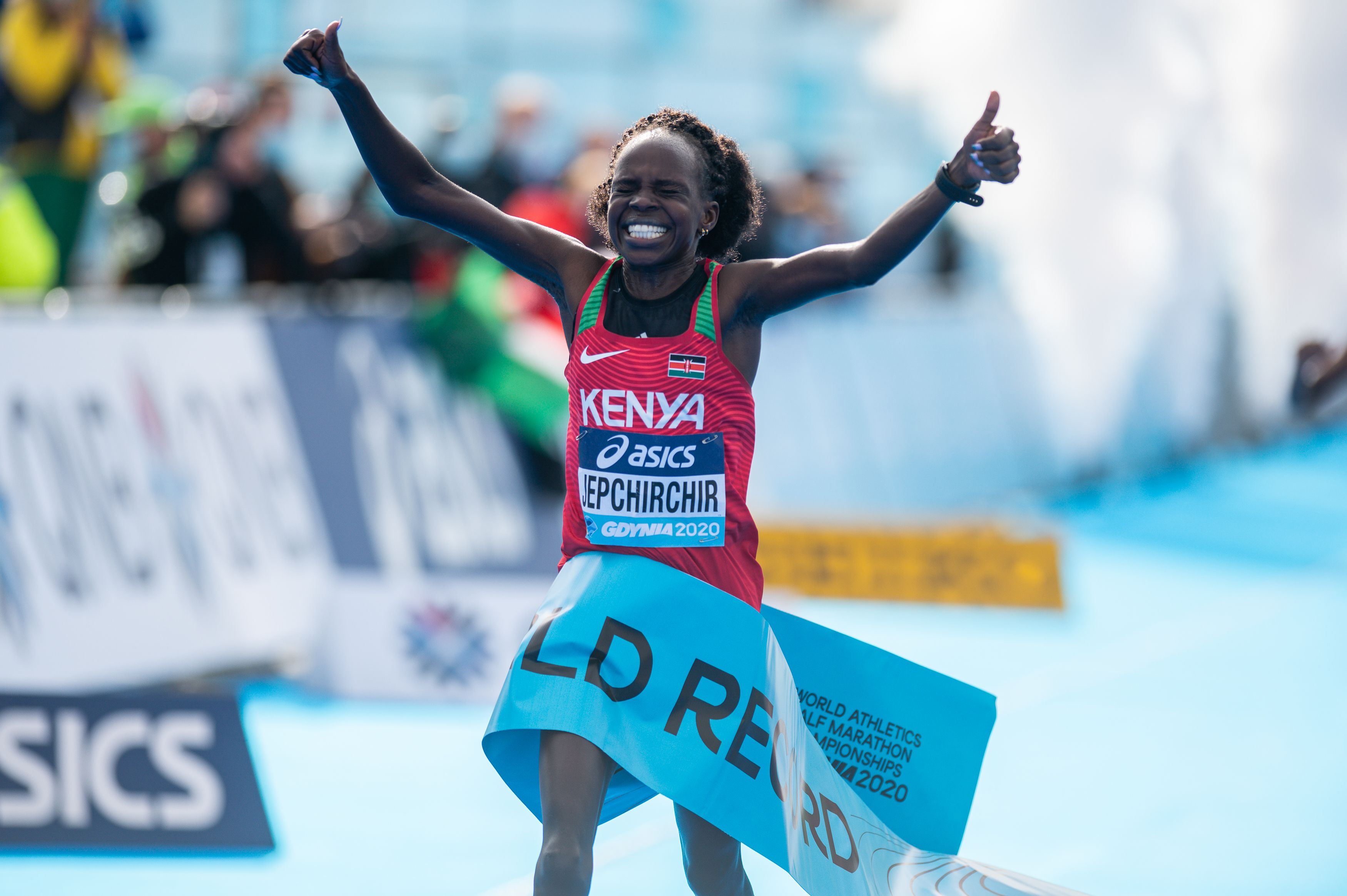 Kenya's Peres Jepchirchir breaks own world record at World Athletics Half Marathon Championships