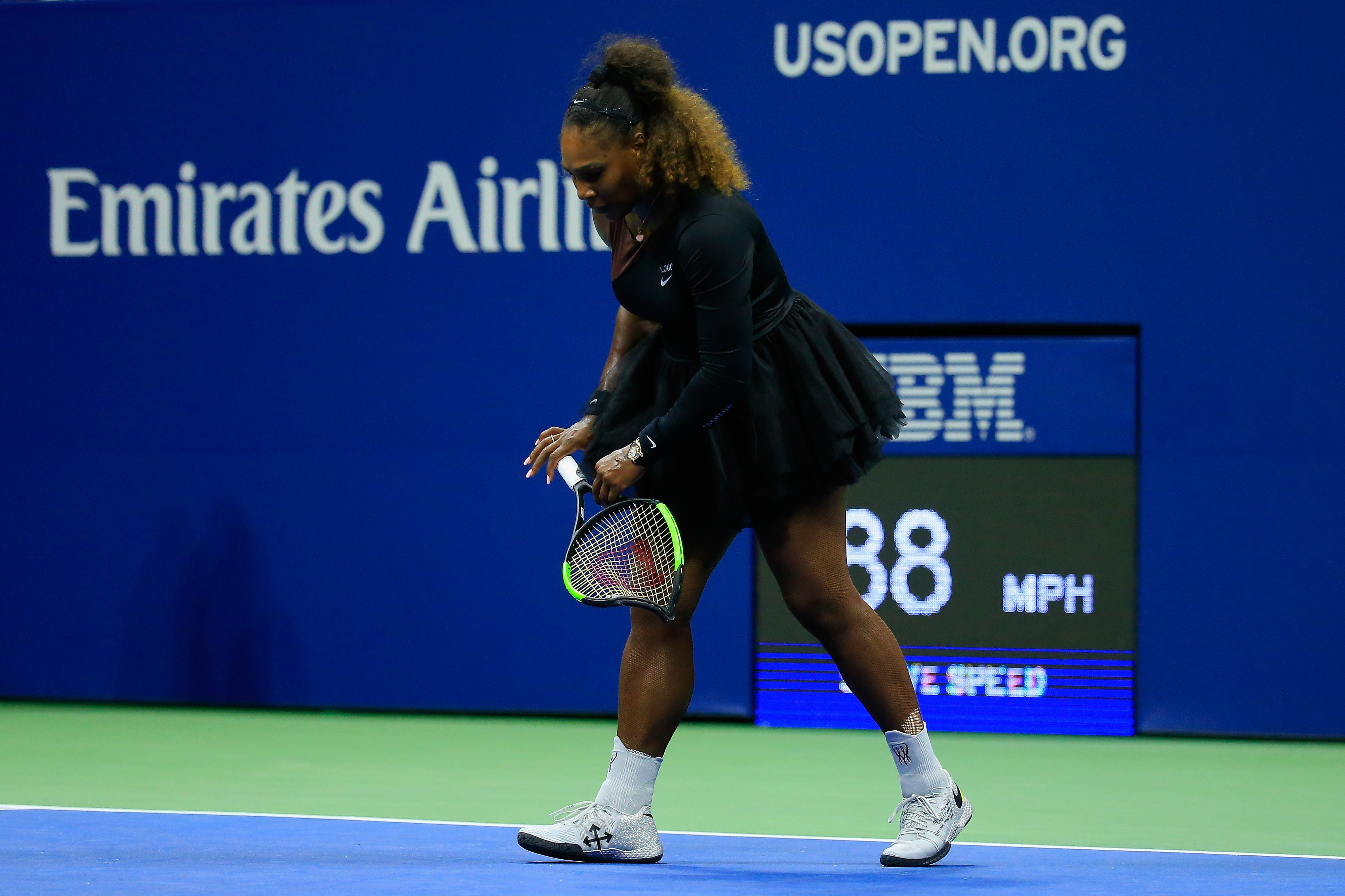 Serena Williams' smashed racket from the US Open sells for $20,910