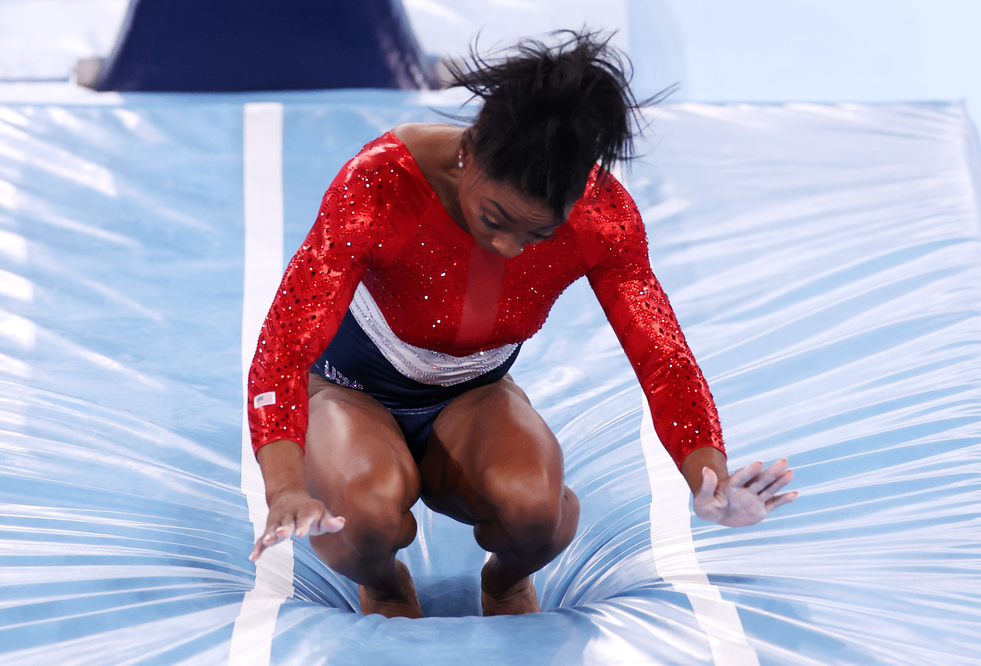 'I have to focus on my mental health,' says Simone Biles after withdrawing from gold medal event