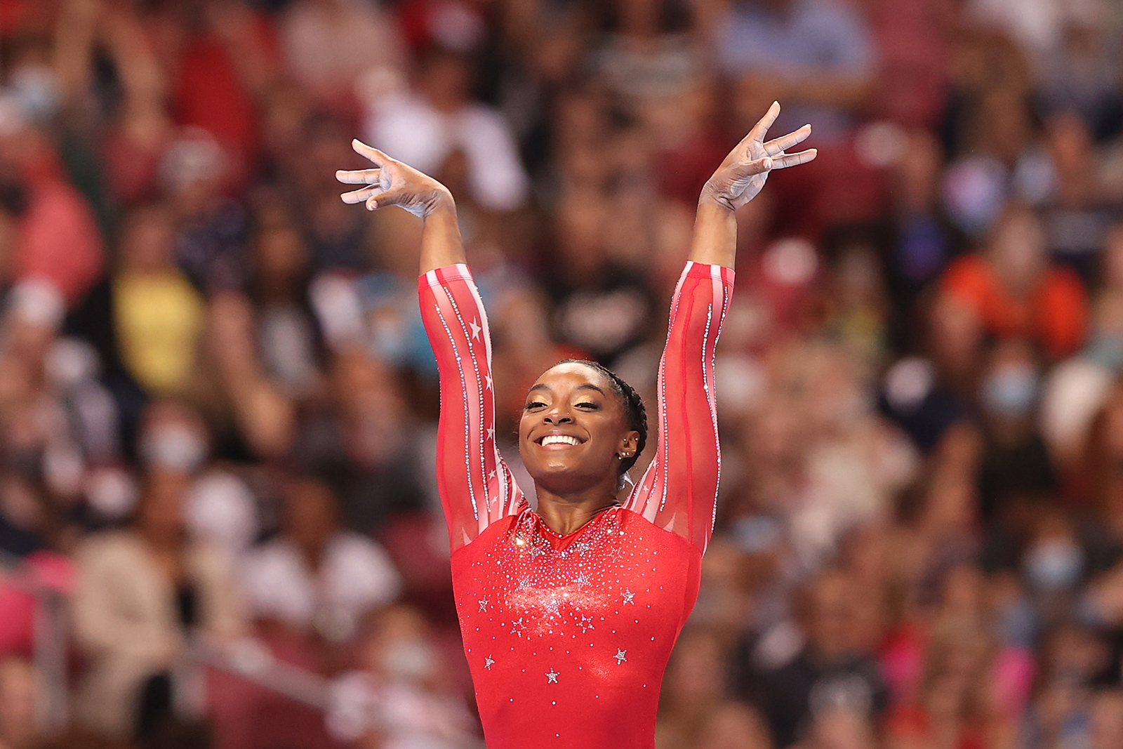 Simone Biles secures spot on United States Gymnastics team for next month's Tokyo Olympics