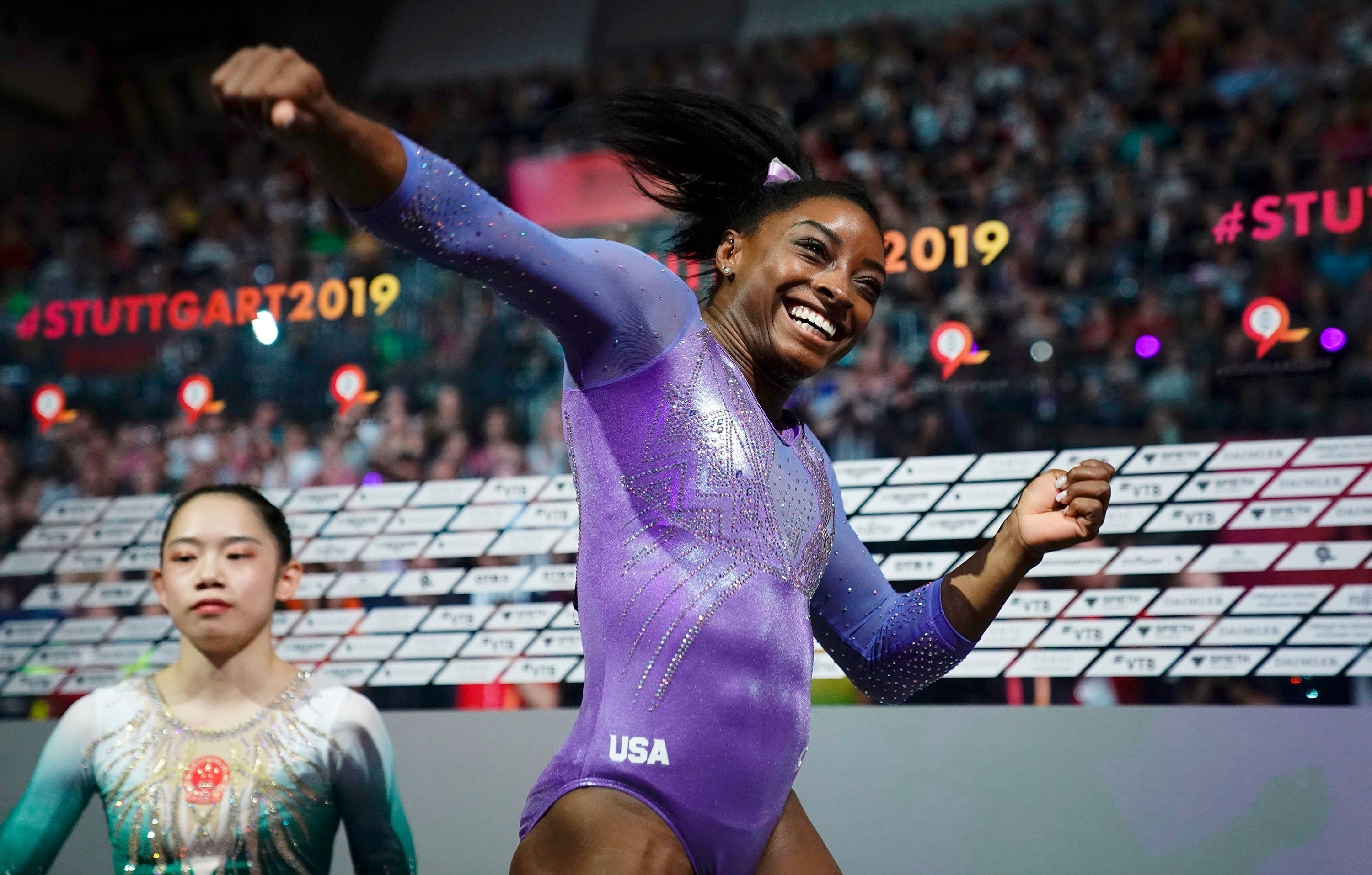 Simone Biles sets record for most world gymnastics championship medals