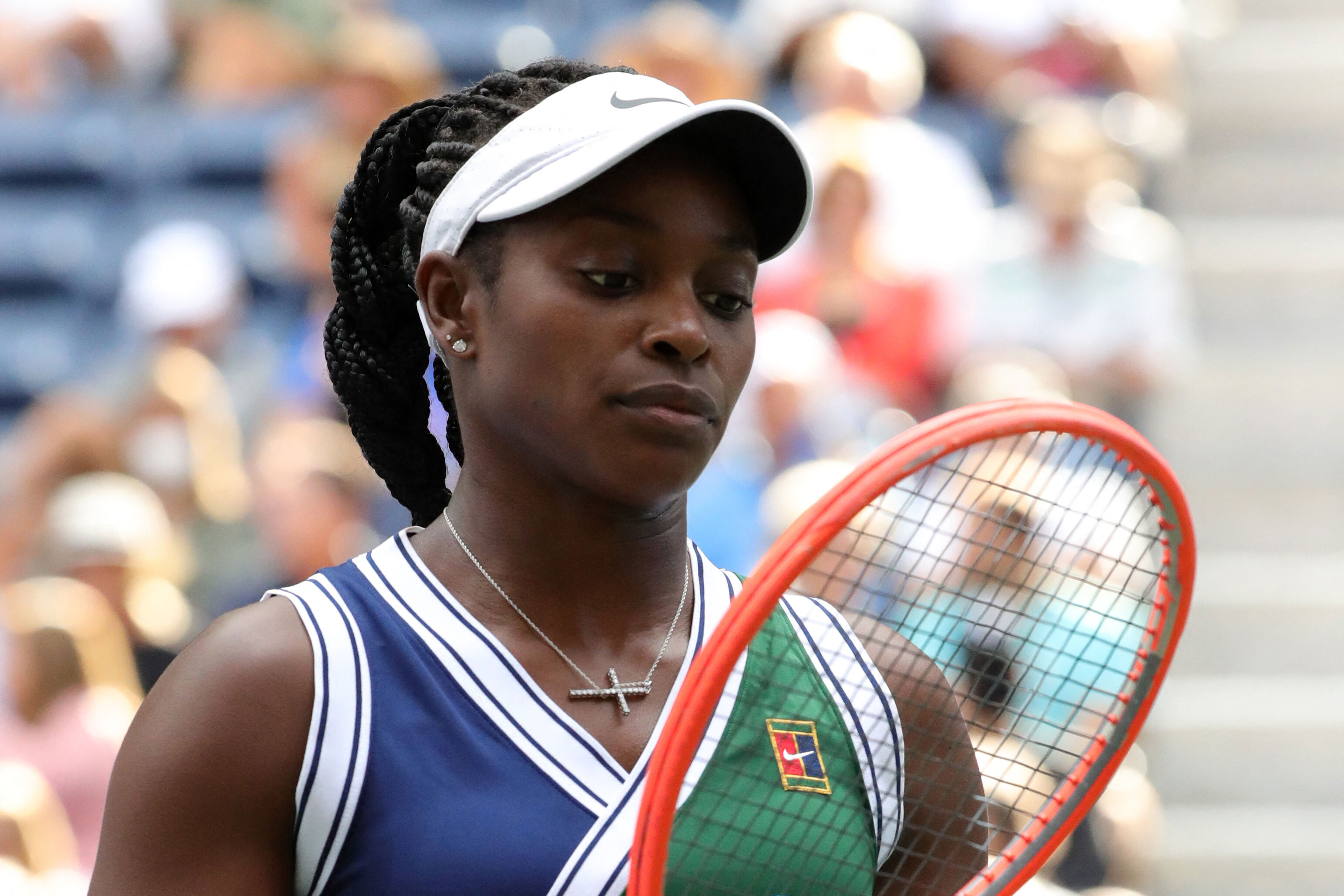 Sloane Stephens says she received more than 2,000 messages of 'abuse and anger' after US Open defeat