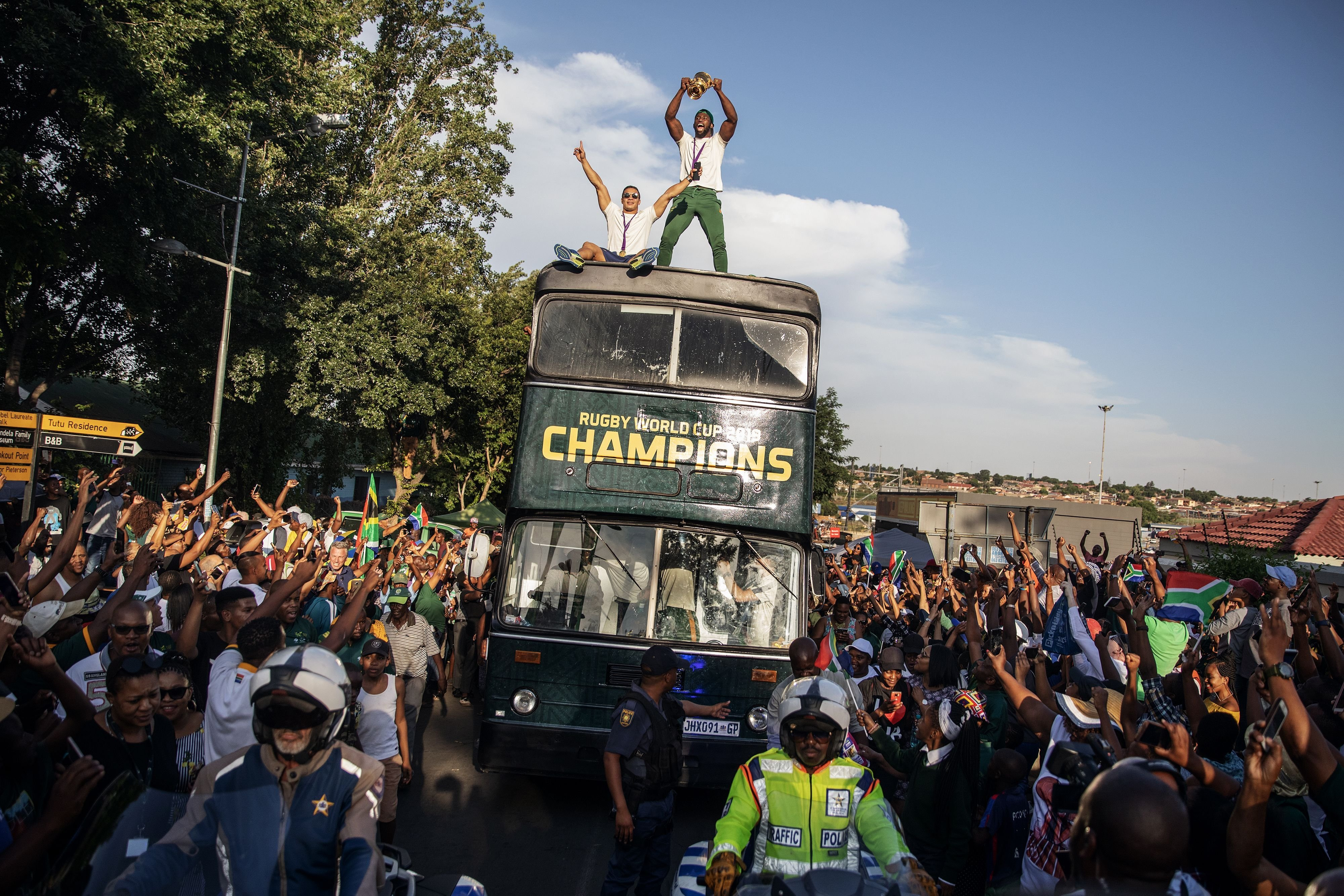 Springboks' victory parade brings joy across South Africa