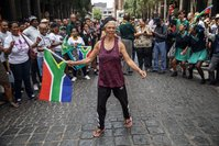 Not everyone in South Africa is celebrating its Rugby World Cup win