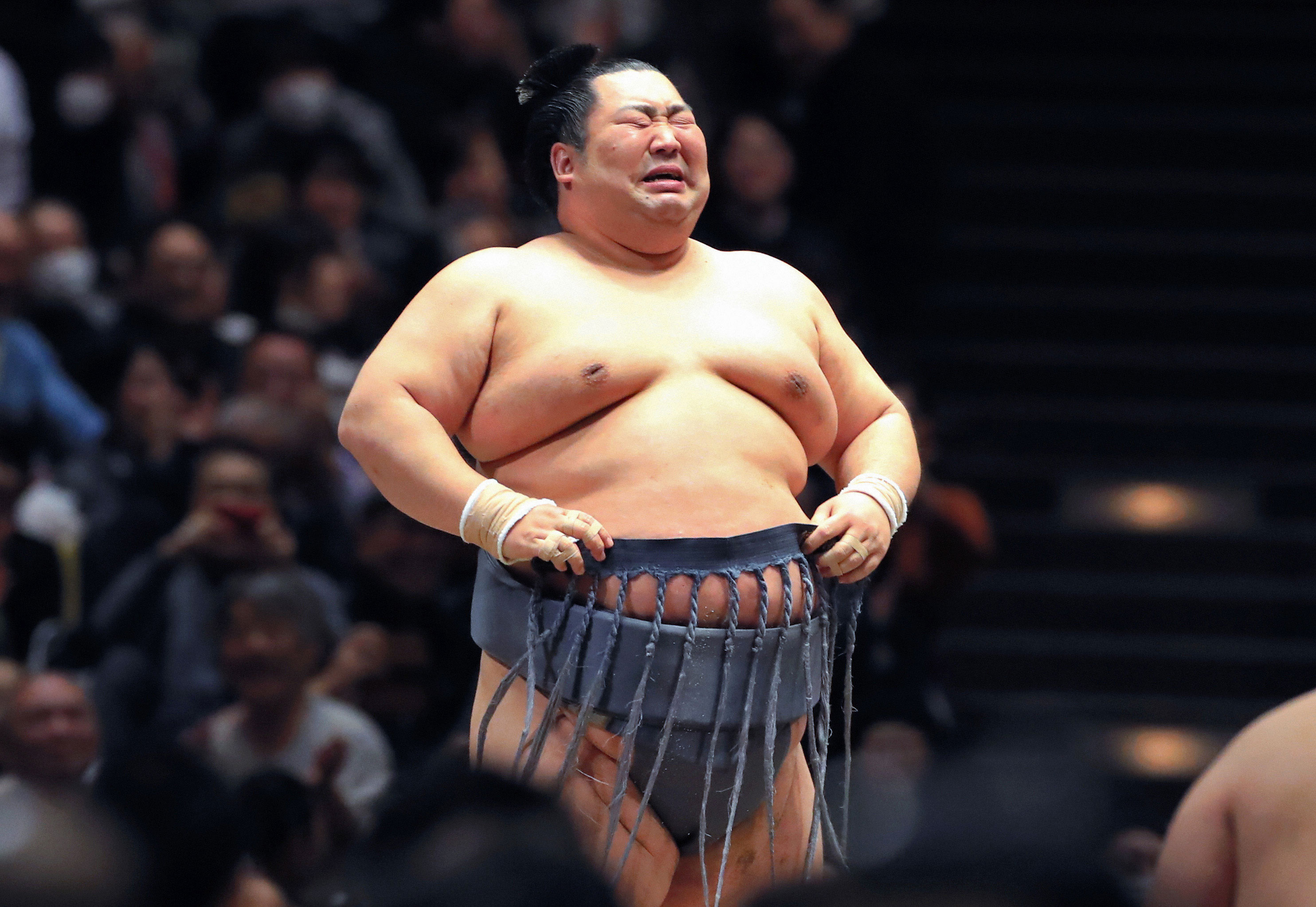 Underdog sumo wrestler Tokushoryu bursts into tears after winning first title