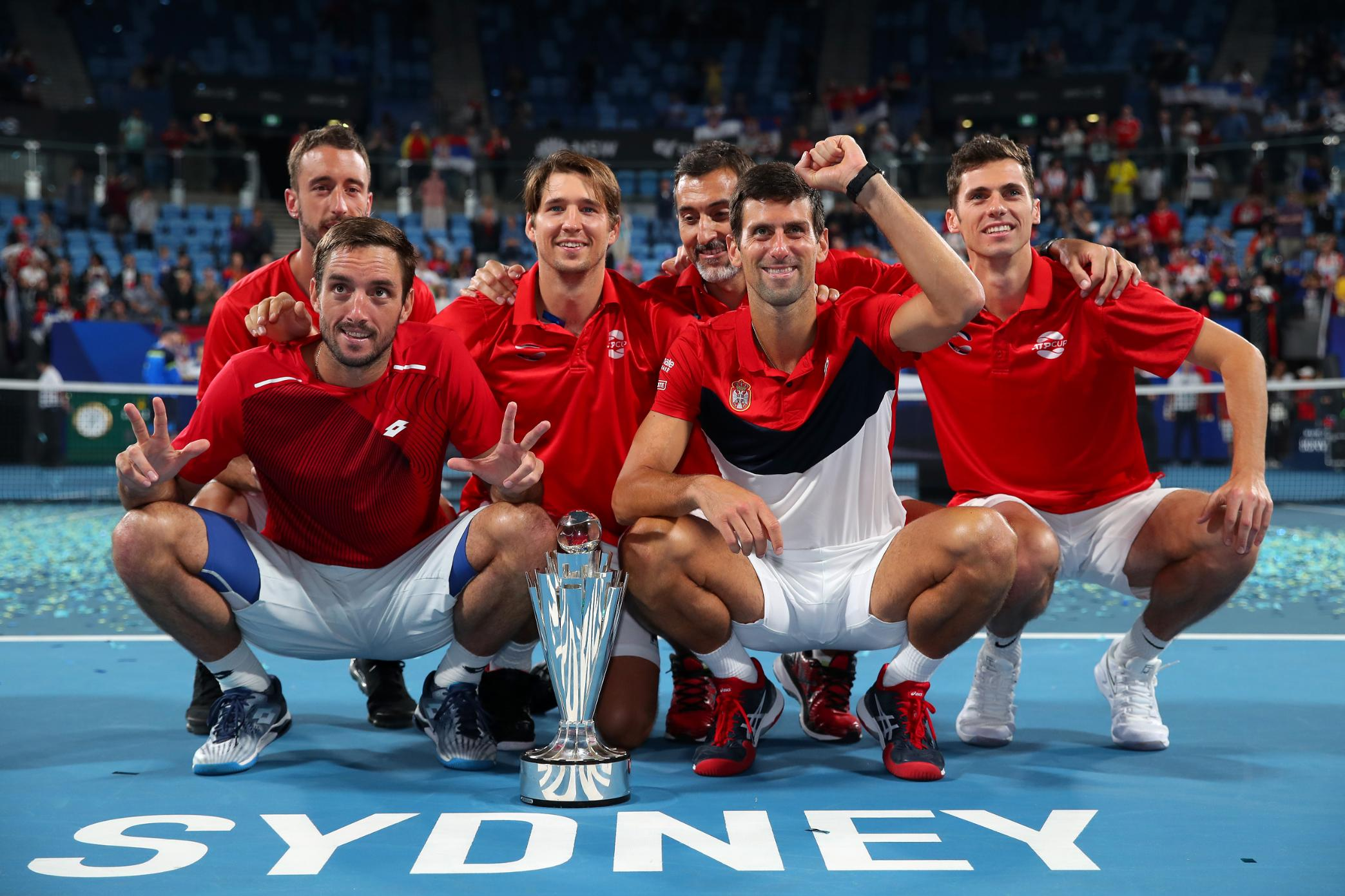 Novak Djokovic leads Serbia to title at first-ever ATP Cup