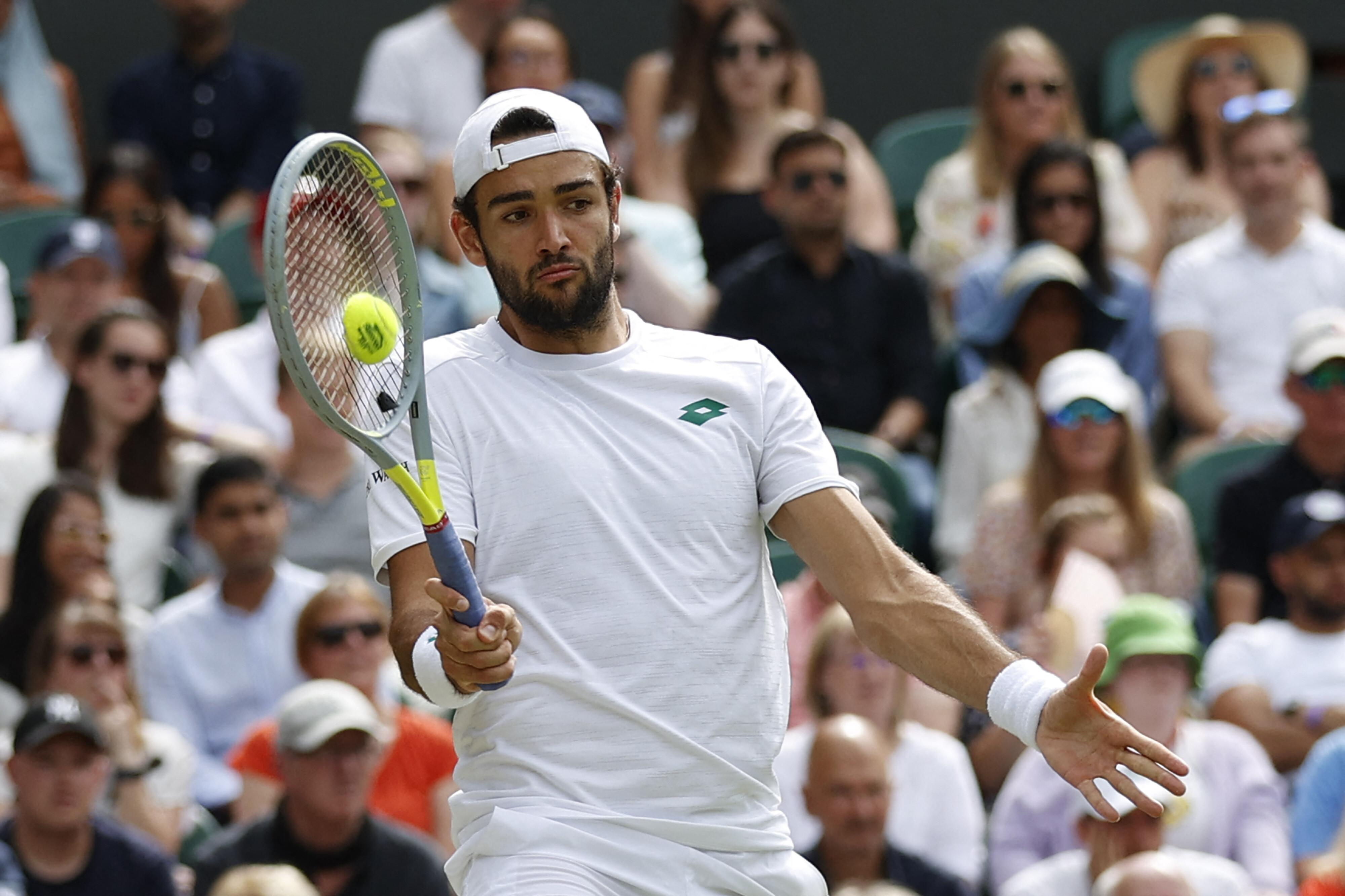 Matteo Berrettini beats Hubert Hurkacz to become first Italian man to reach a Wimbledon final