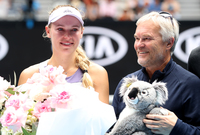 Tearful Caroline Wozniacki bids goodbye to tennis at Australian Open