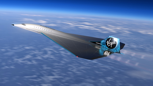 Image for Virgin Galactic reveals new supersonic jet design that would fly three times speed of sound