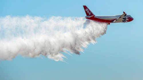 Image for A firefighting Supertanker plane from the US is helping in the Amazon rainforest