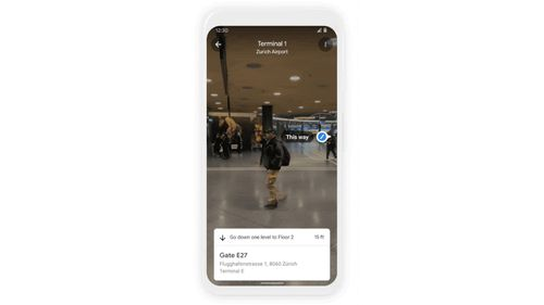 Image for Google Maps adding new features, including augmented reality for (eventually) getting around airports and malls