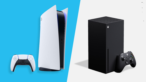 Image for A side-by-side comparison of the PlayStation 5 and the Xbox Series X