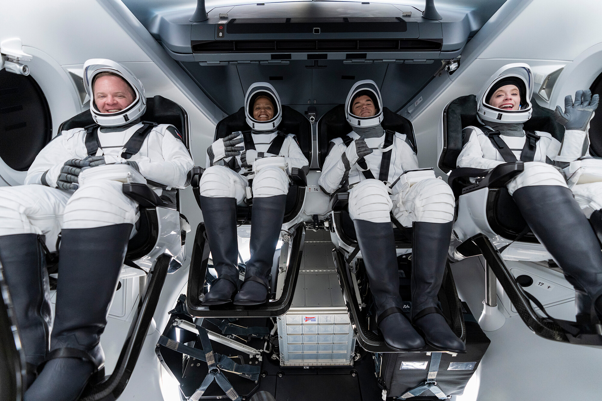 SpaceX launches four people to orbit in company's first-ever tourism mission